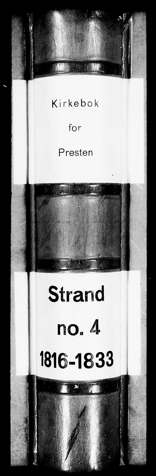 SAST, Strand sokneprestkontor, H/Ha/Haa/L0004: Ministerialbok nr. A 4 /1, 1816-1833