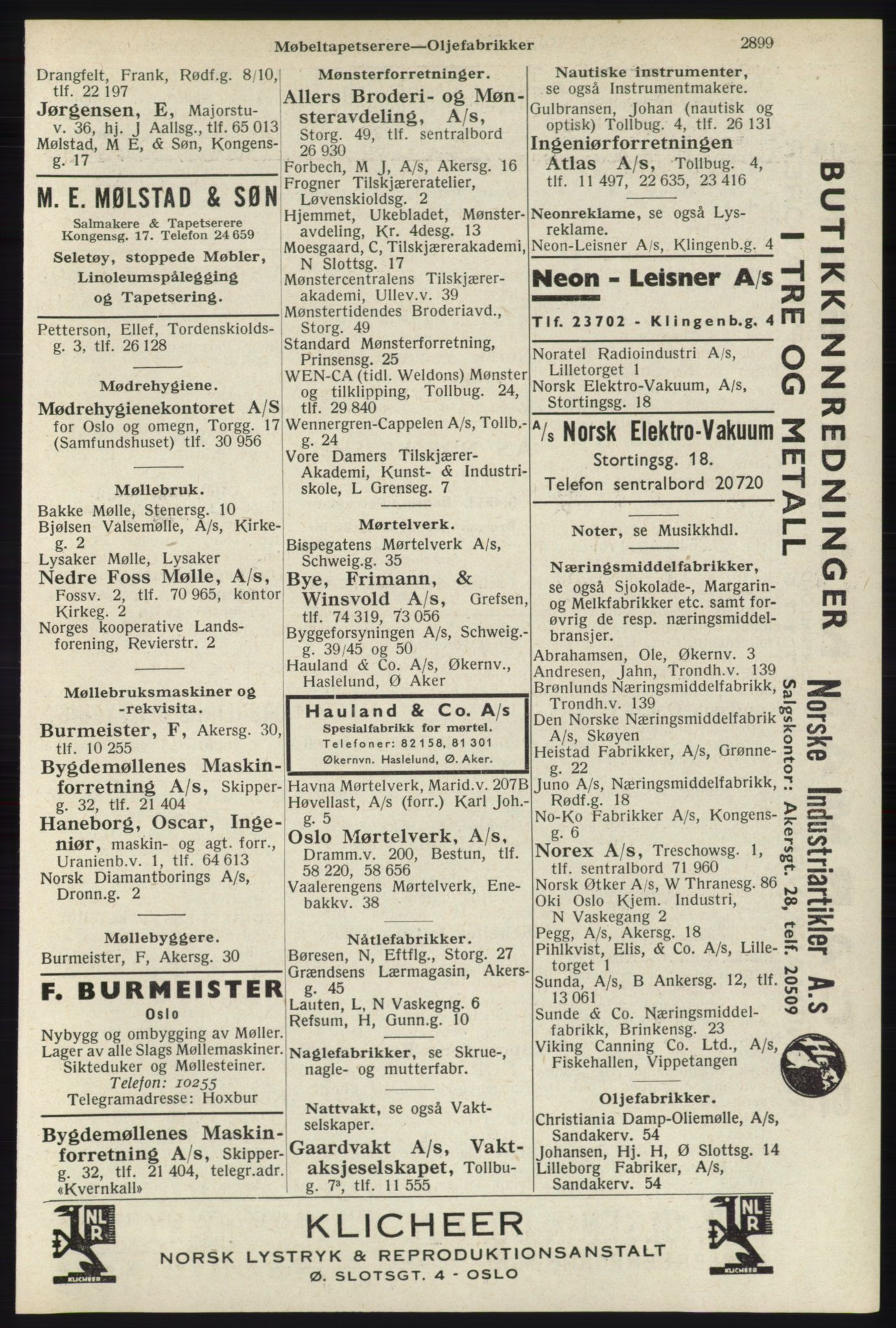 RA, Oslo adressebok (publikasjon)*, 1940, s. 2899