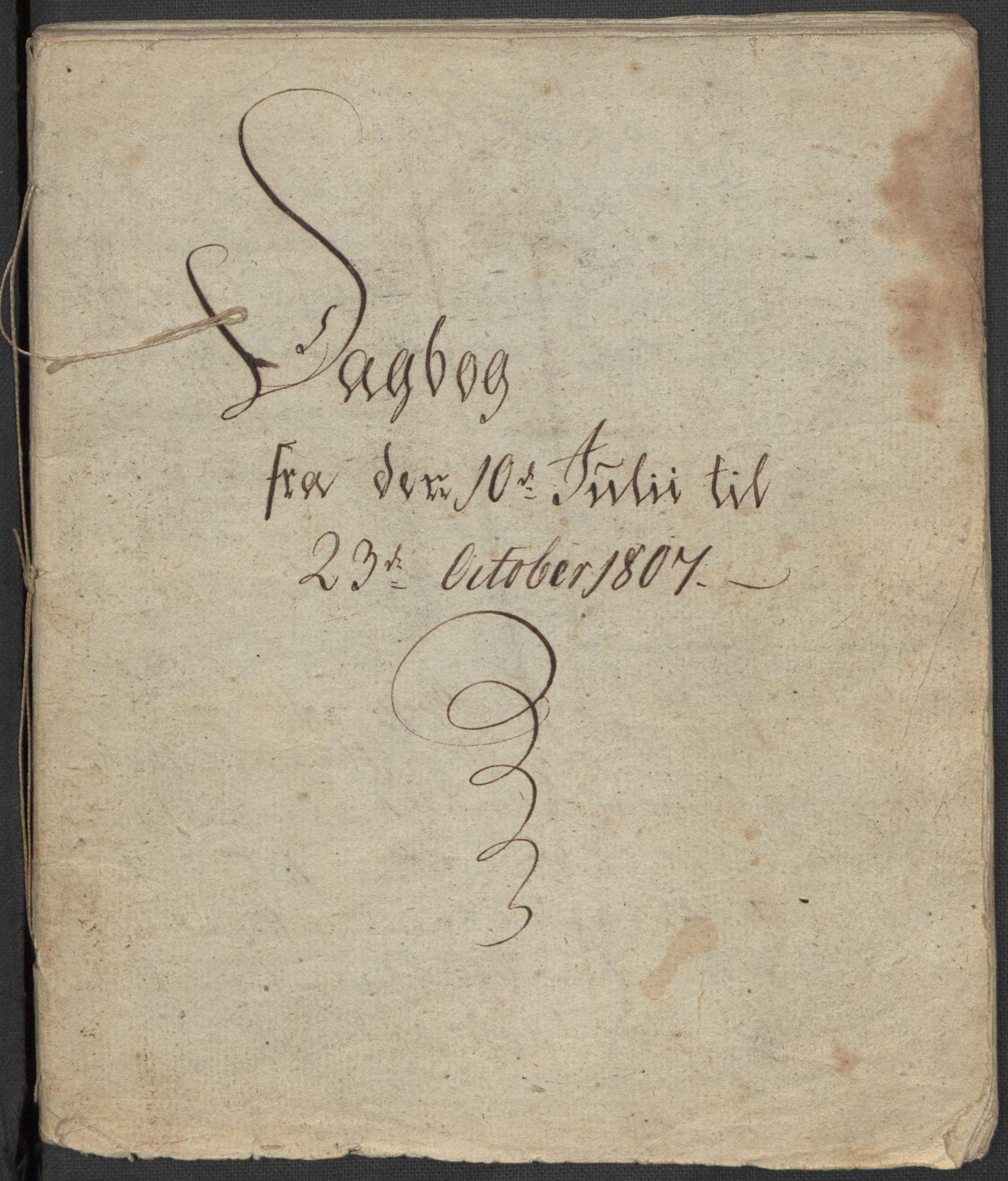 RA, Holck, Meidell, Hartvig, F/L0001: (Kassett) Dagbøker ført av Ole Elias v.Holck, 1798-1842, s. 128