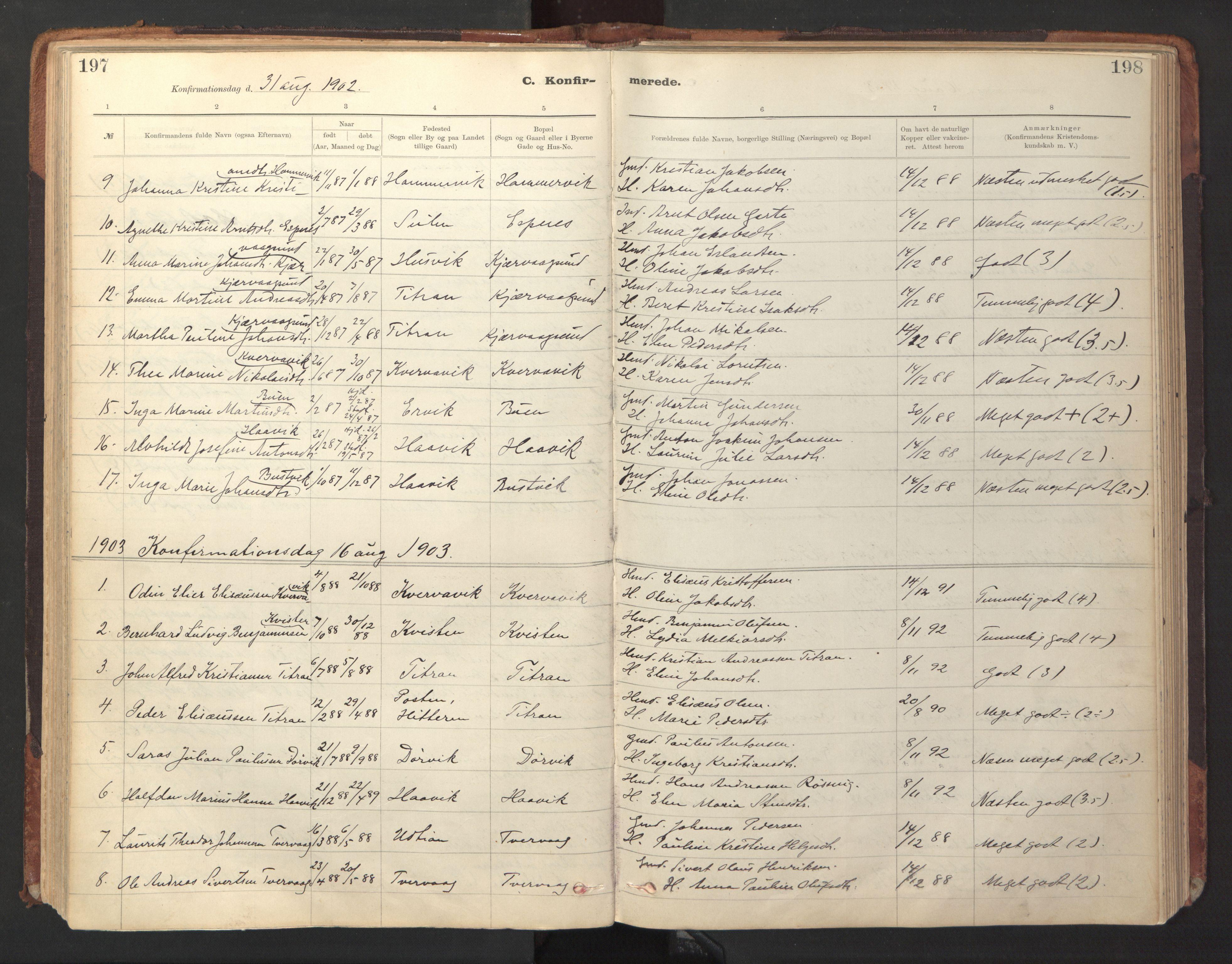 SAT, Ministerialprotokoller, klokkerbøker og fødselsregistre - Sør-Trøndelag, 641/L0596: Ministerialbok nr. 641A02, 1898-1915, s. 197-198