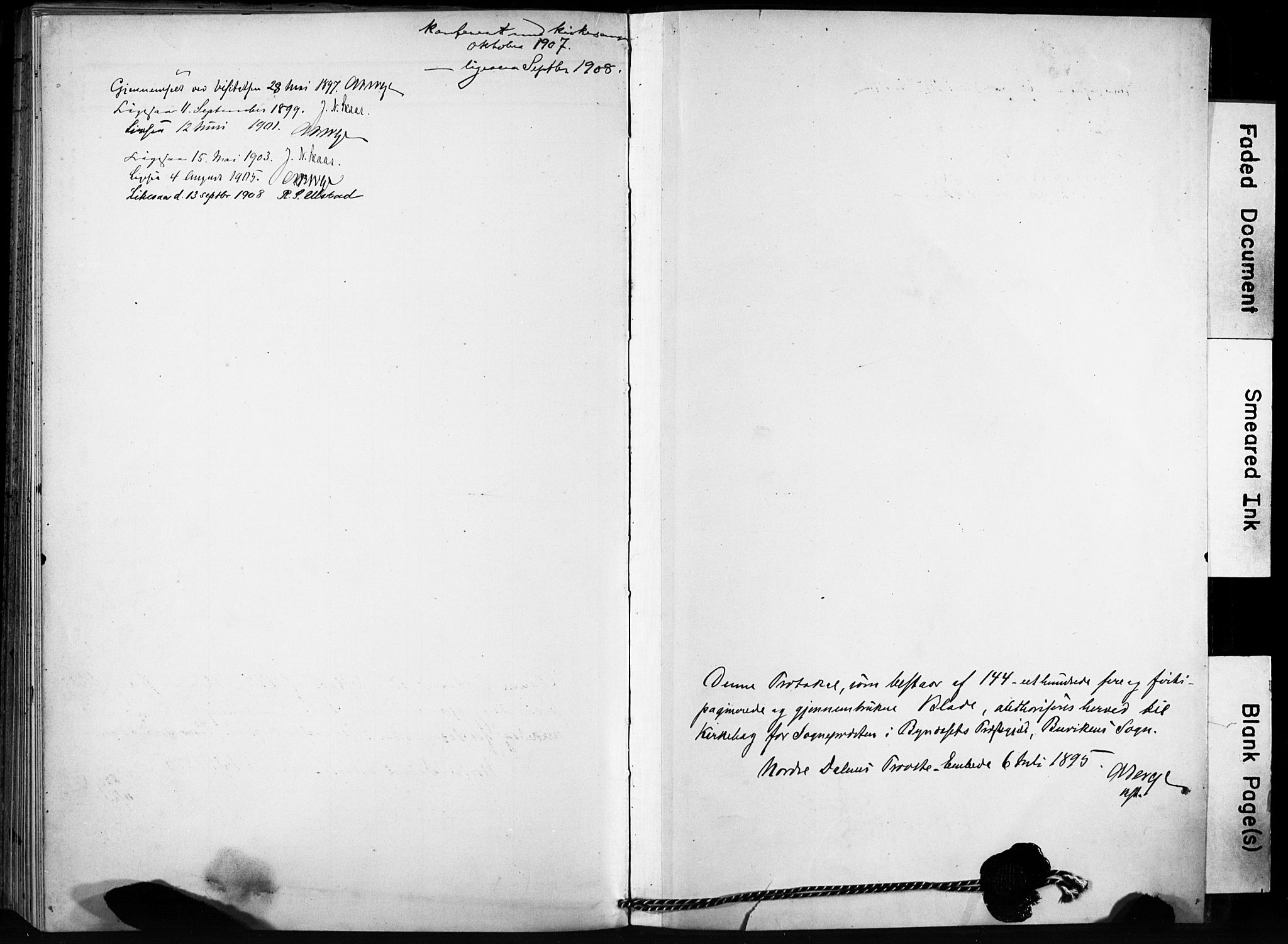 SAT, Ministerialprotokoller, klokkerbøker og fødselsregistre - Sør-Trøndelag, 666/L0787: Ministerialbok nr. 666A05, 1895-1908