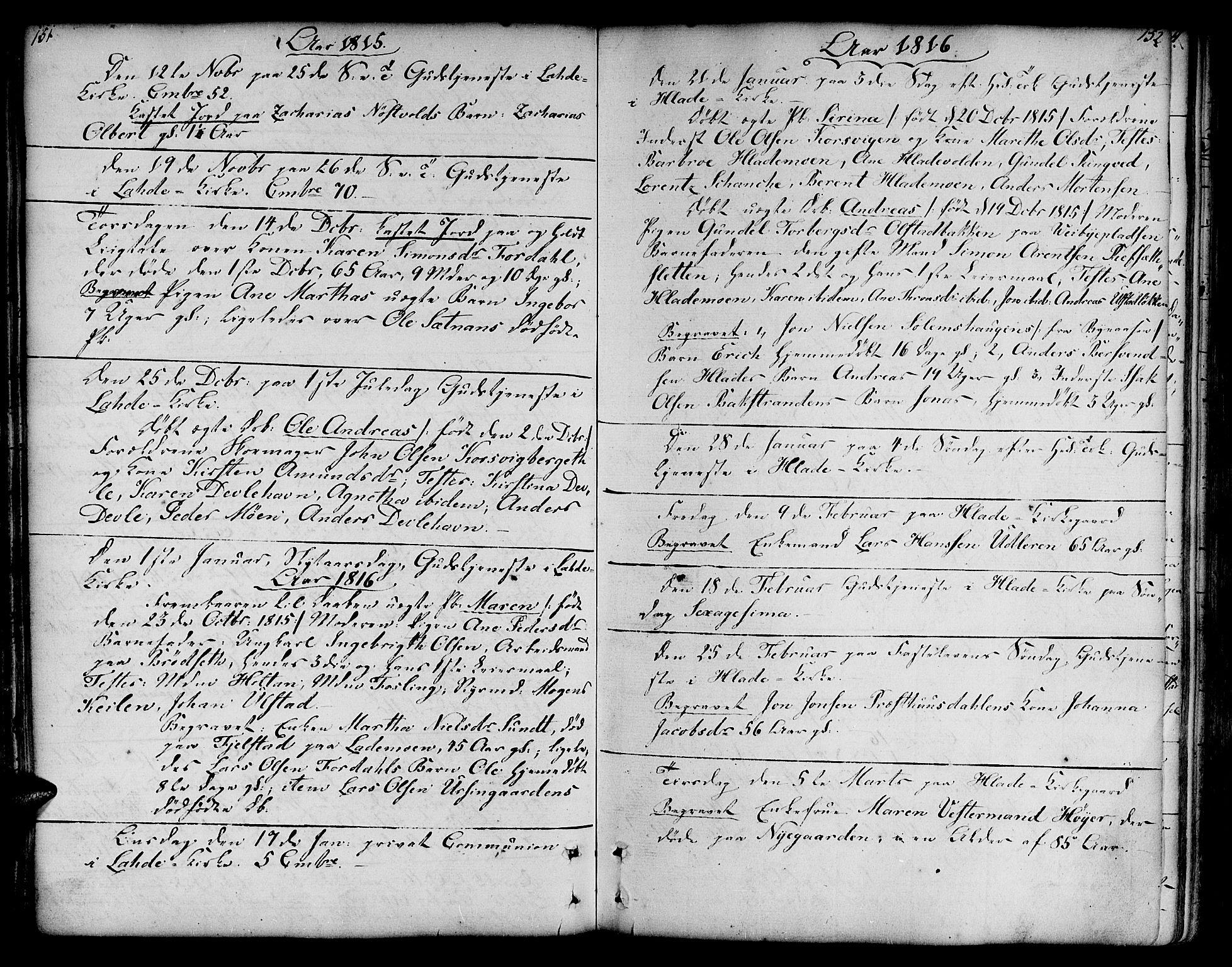 SAT, Ministerialprotokoller, klokkerbøker og fødselsregistre - Sør-Trøndelag, 606/L0280: Ministerialbok nr. 606A02 /1, 1781-1817, s. 151-152