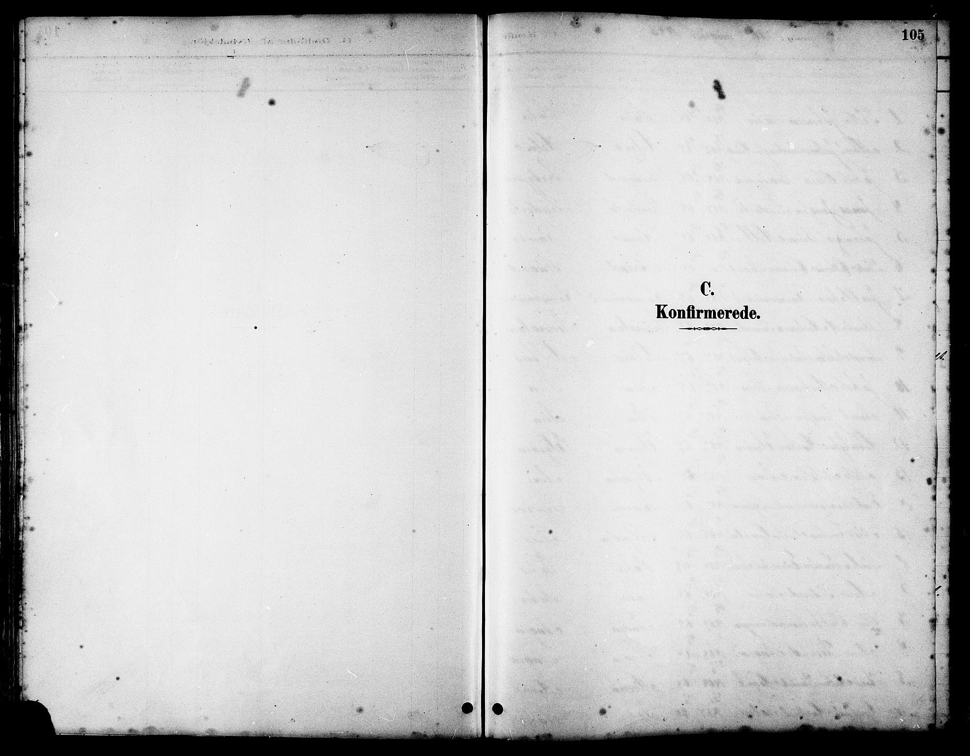 SAT, Ministerialprotokoller, klokkerbøker og fødselsregistre - Sør-Trøndelag, 658/L0726: Klokkerbok nr. 658C02, 1883-1908, s. 105