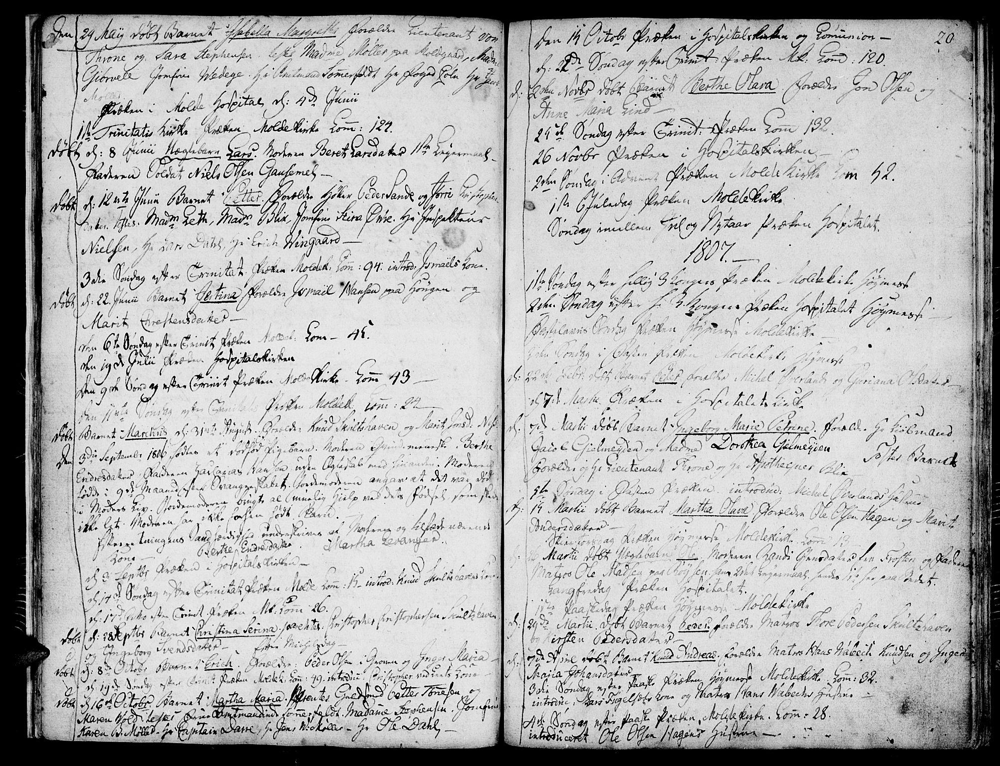 SAT, Ministerialprotokoller, klokkerbøker og fødselsregistre - Møre og Romsdal, 558/L0687: Ministerialbok nr. 558A01, 1798-1818, s. 20