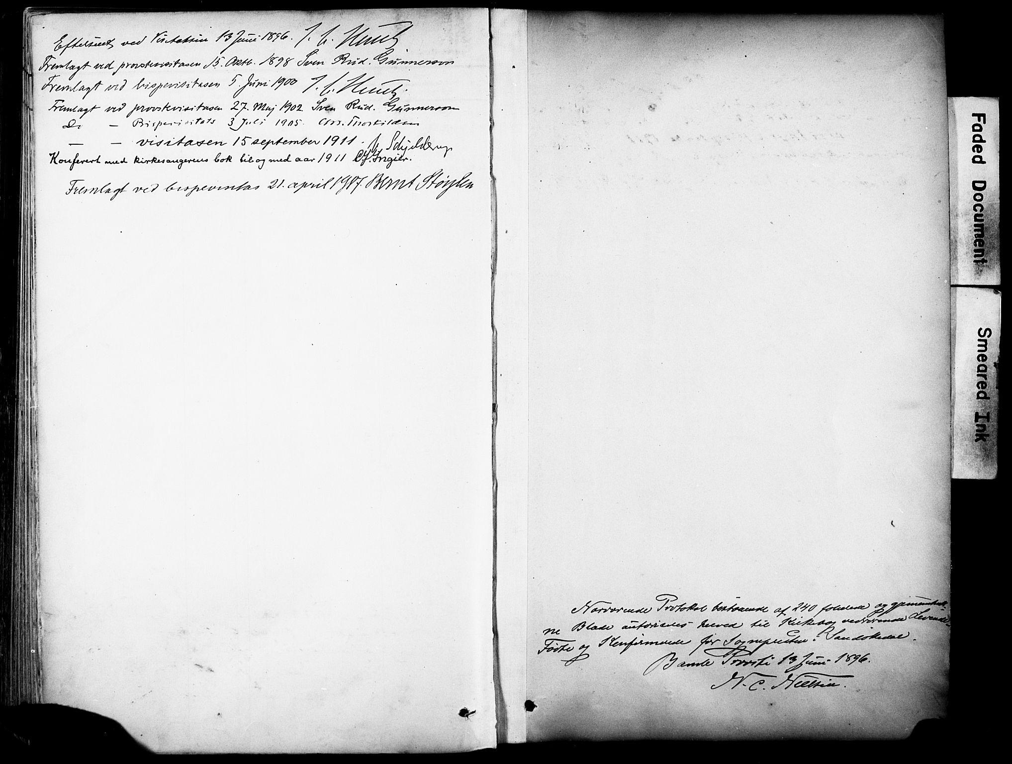 SAKO, Sannidal kirkebøker, F/Fa/L0016: Ministerialbok nr. 16, 1895-1911