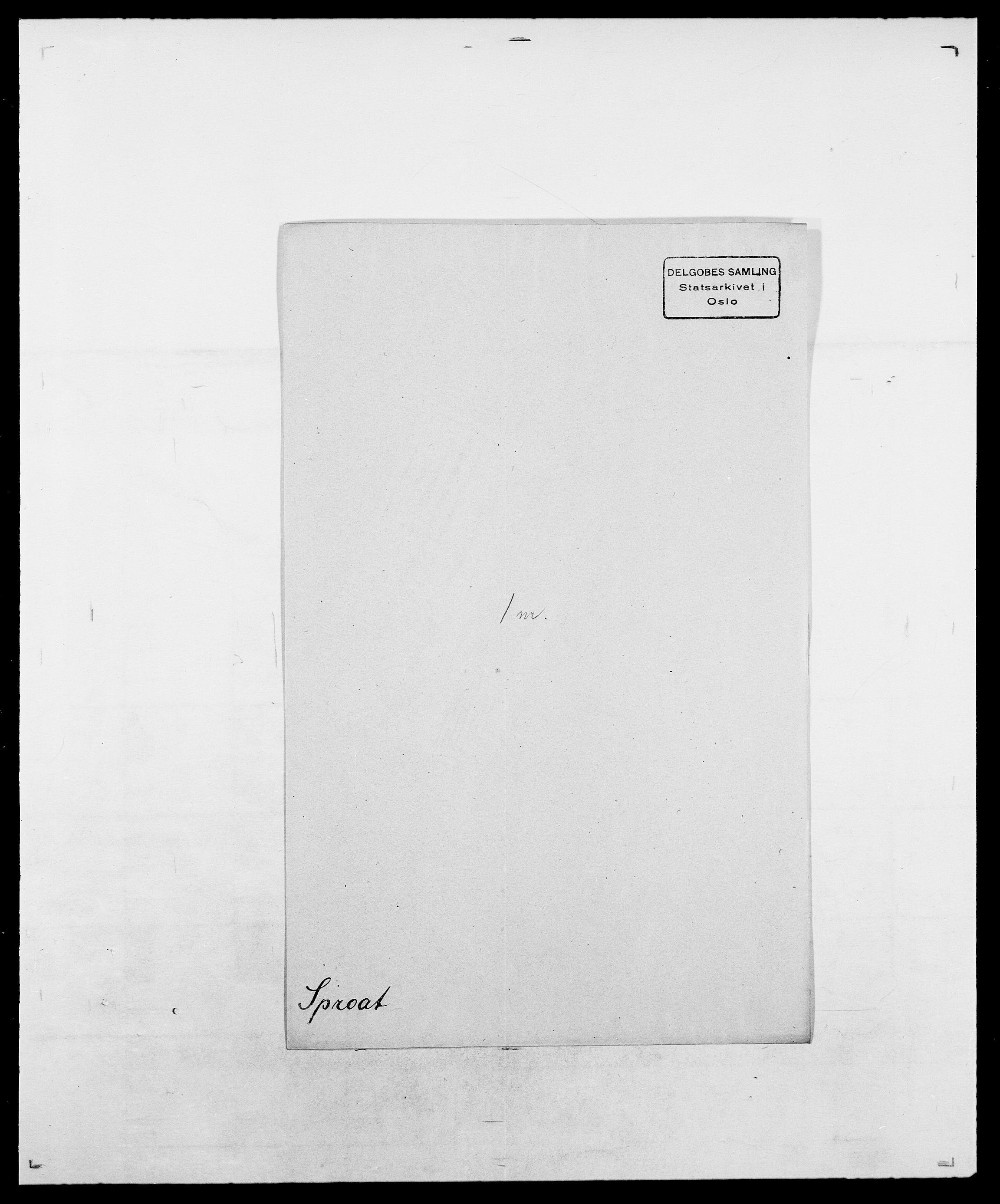 SAO, Delgobe, Charles Antoine - samling, D/Da/L0036: Skaanør - Staverskov, s. 588