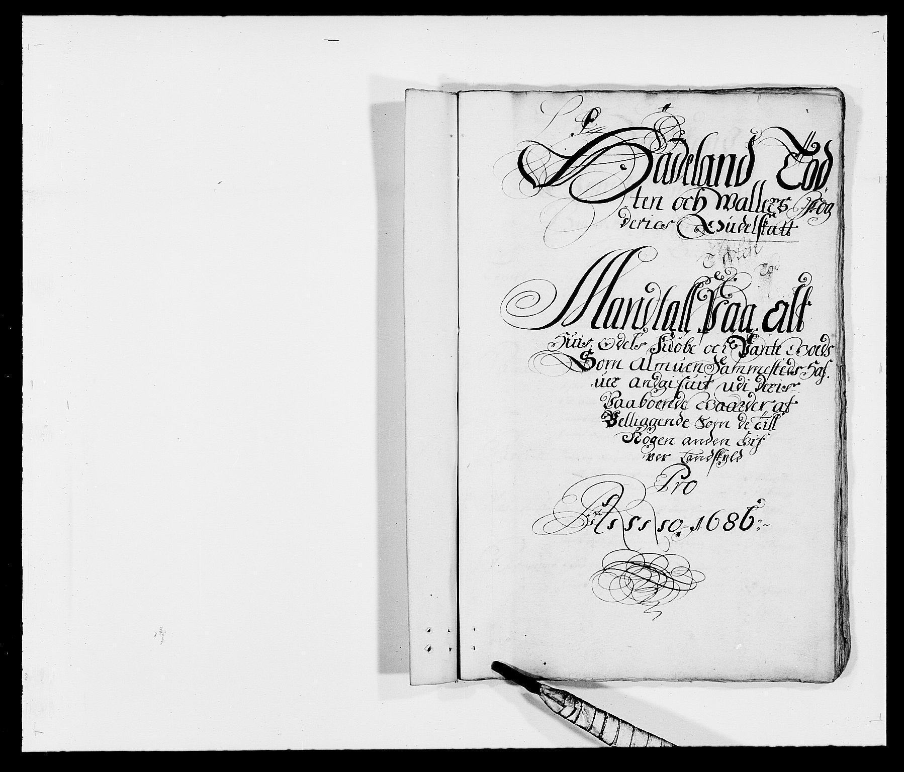 RA, Rentekammeret inntil 1814, Reviderte regnskaper, Fogderegnskap, R18/L1285: Fogderegnskap Hadeland, Toten og Valdres, 1686, s. 153