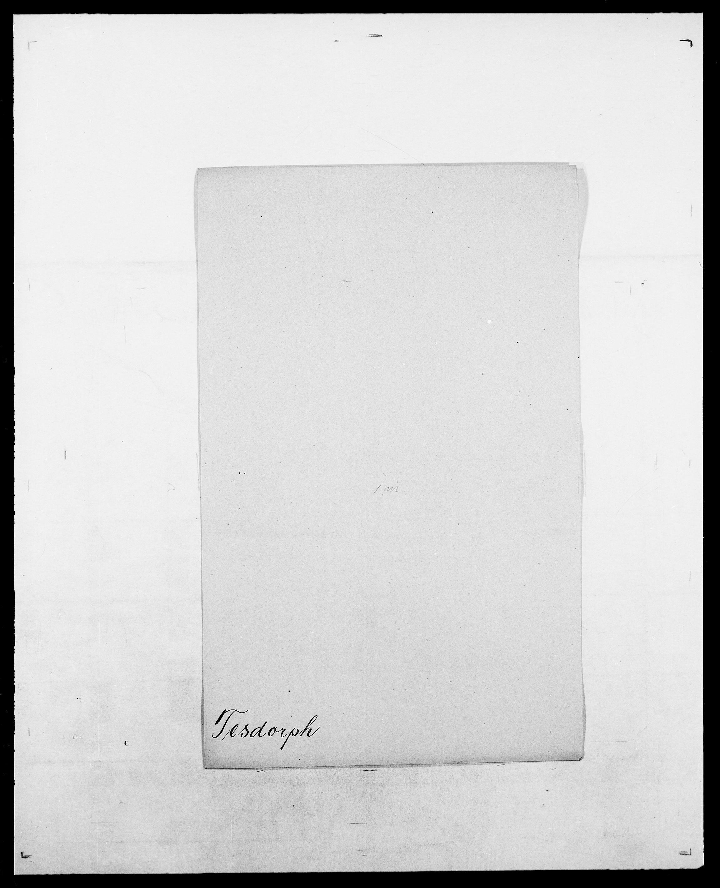 SAO, Delgobe, Charles Antoine - samling, D/Da/L0038: Svanenskjold - Thornsohn, s. 407