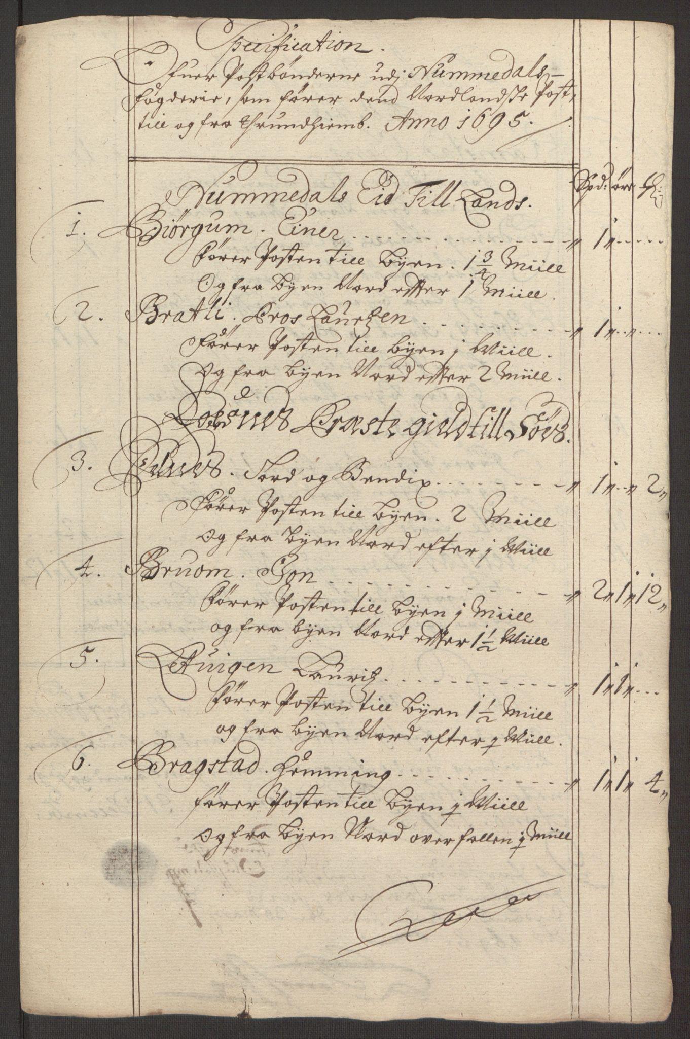 RA, Rentekammeret inntil 1814, Reviderte regnskaper, Fogderegnskap, R64/L4424: Fogderegnskap Namdal, 1692-1695, s. 517