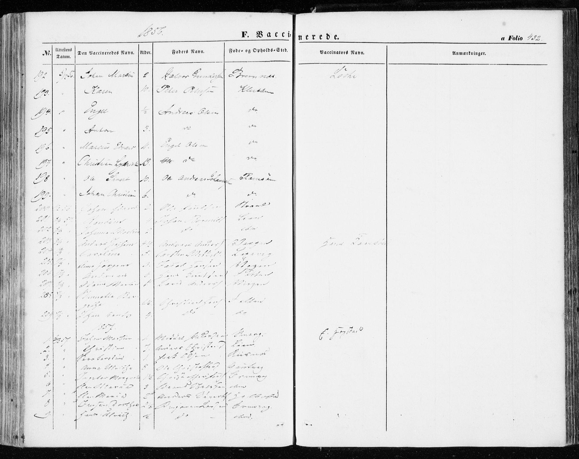 SAT, Ministerialprotokoller, klokkerbøker og fødselsregistre - Sør-Trøndelag, 634/L0530: Ministerialbok nr. 634A06, 1852-1860, s. 432