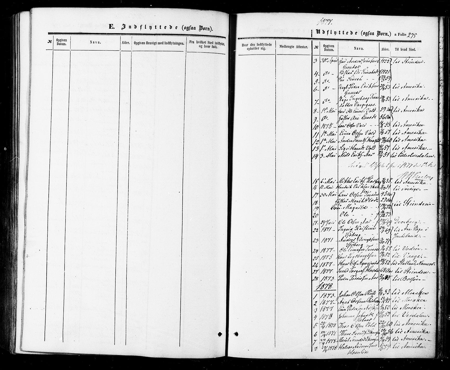 SAT, Ministerialprotokoller, klokkerbøker og fødselsregistre - Sør-Trøndelag, 674/L0870: Ministerialbok nr. 674A02, 1861-1879, s. 275