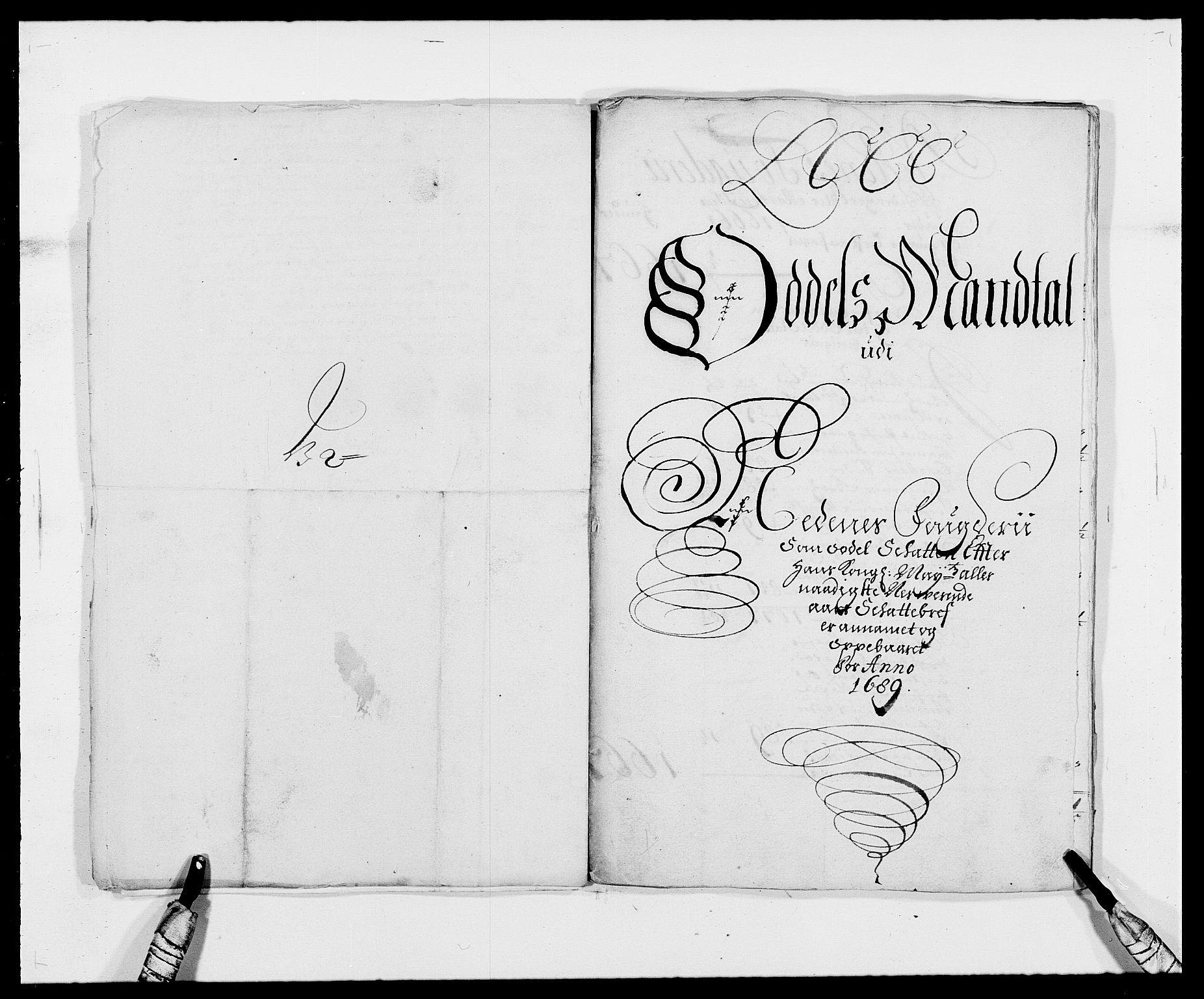 RA, Rentekammeret inntil 1814, Reviderte regnskaper, Fogderegnskap, R39/L2309: Fogderegnskap Nedenes, 1684-1689, s. 291