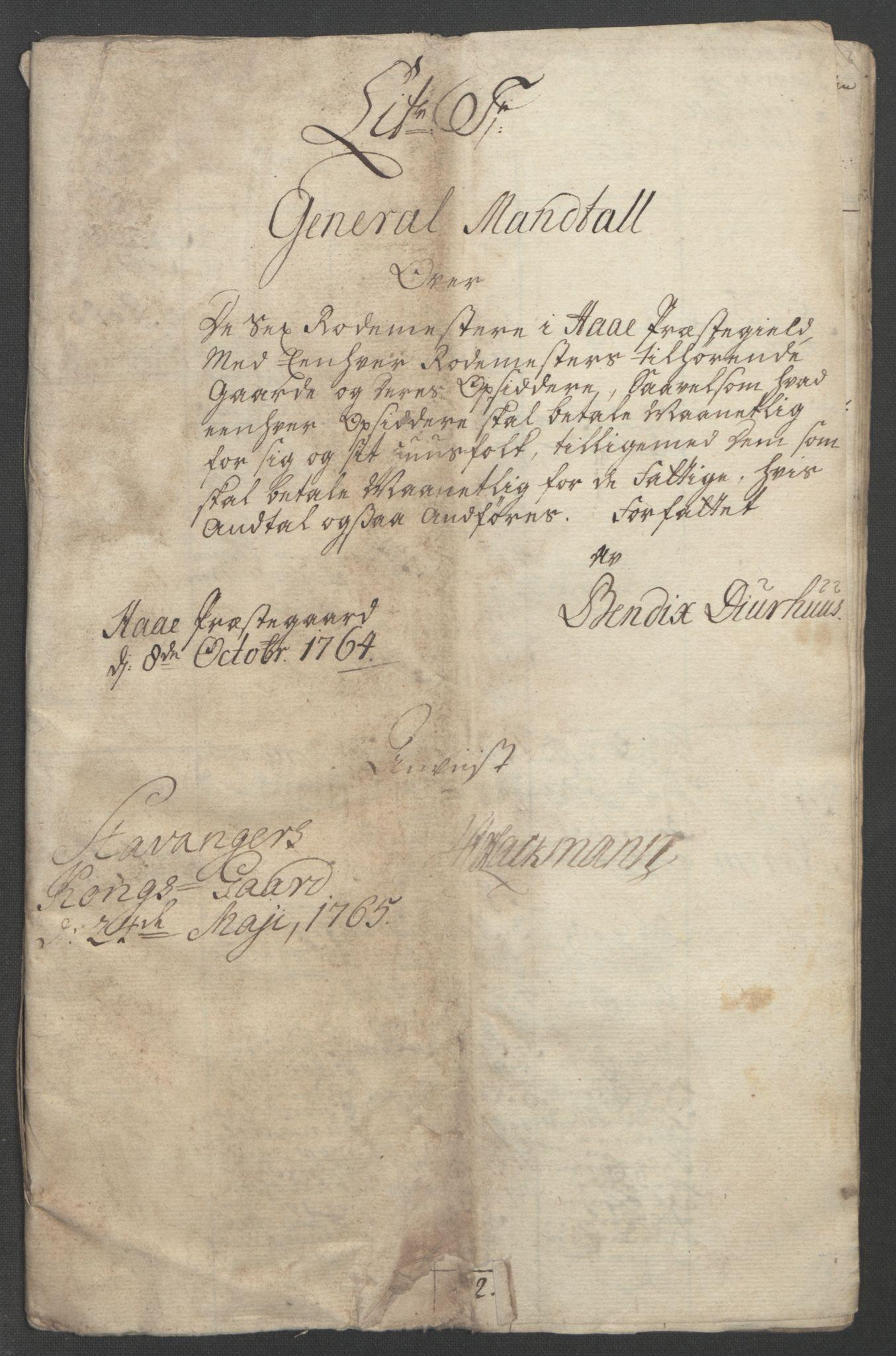 RA, Rentekammeret inntil 1814, Reviderte regnskaper, Fogderegnskap, R46/L2835: Ekstraskatten Jæren og Dalane, 1762-1764, s. 227