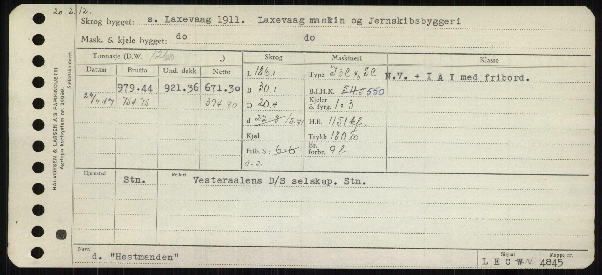 RA, Sjøfartsdirektoratet med forløpere, Skipsmålingen, H/Hb/L0002: Fartøy, E-H, s. 391