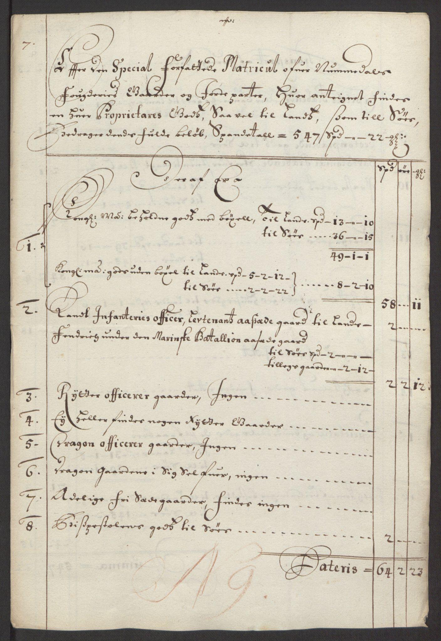 RA, Rentekammeret inntil 1814, Reviderte regnskaper, Fogderegnskap, R64/L4424: Fogderegnskap Namdal, 1692-1695, s. 14