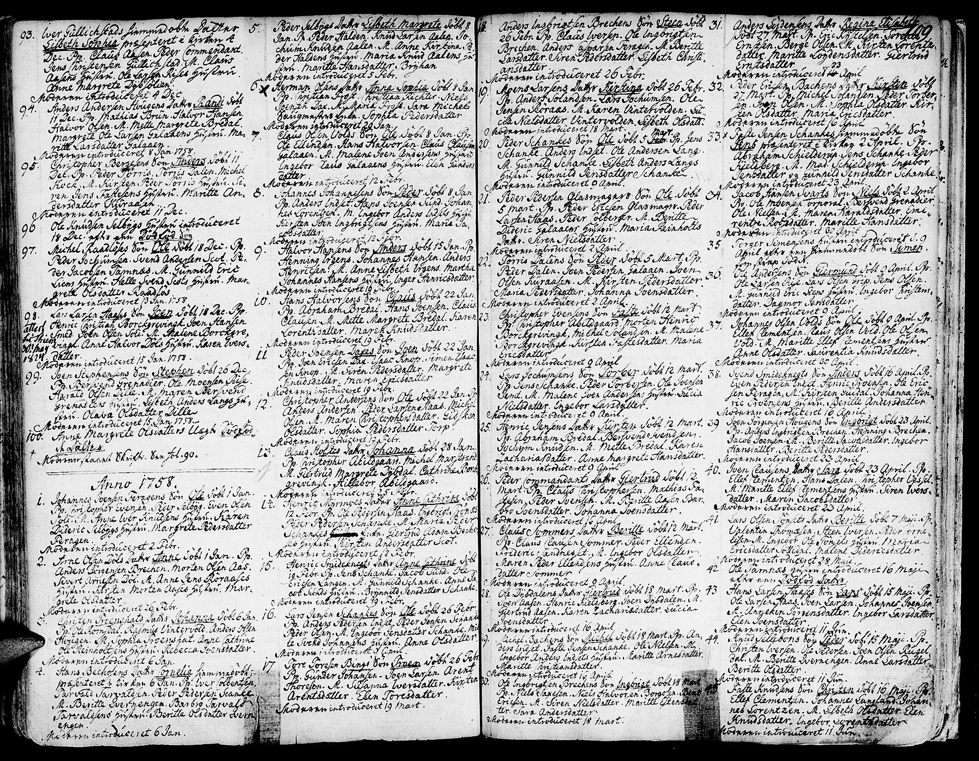 SAT, Ministerialprotokoller, klokkerbøker og fødselsregistre - Sør-Trøndelag, 681/L0925: Ministerialbok nr. 681A03, 1727-1766, s. 109