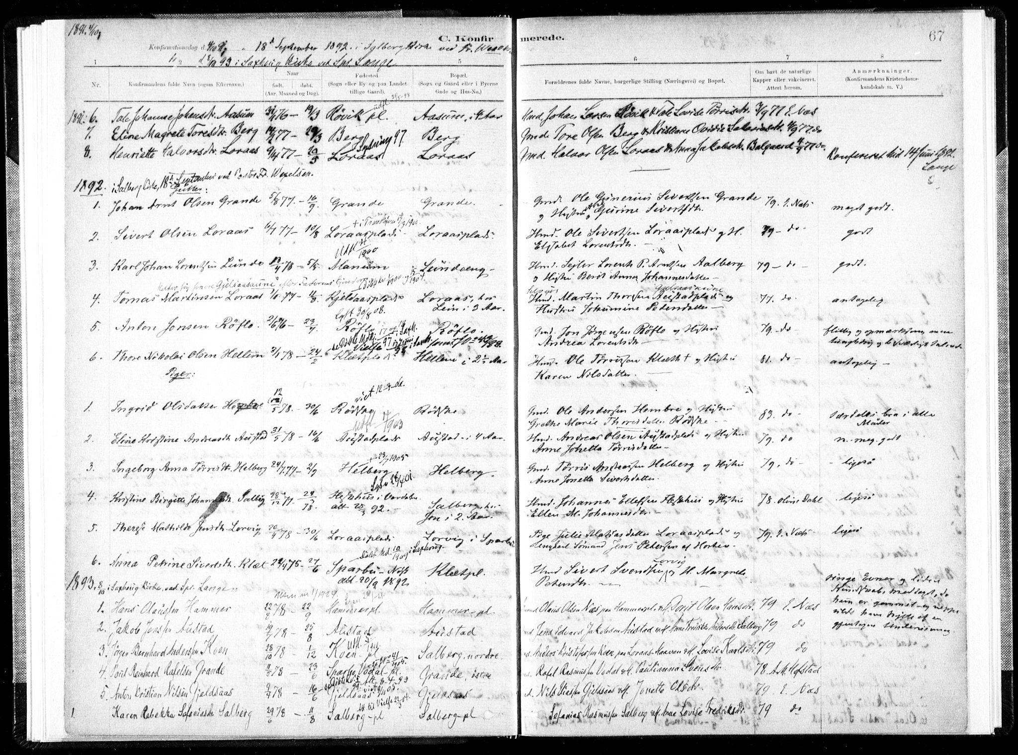SAT, Ministerialprotokoller, klokkerbøker og fødselsregistre - Nord-Trøndelag, 731/L0309: Ministerialbok nr. 731A01, 1879-1918, s. 67