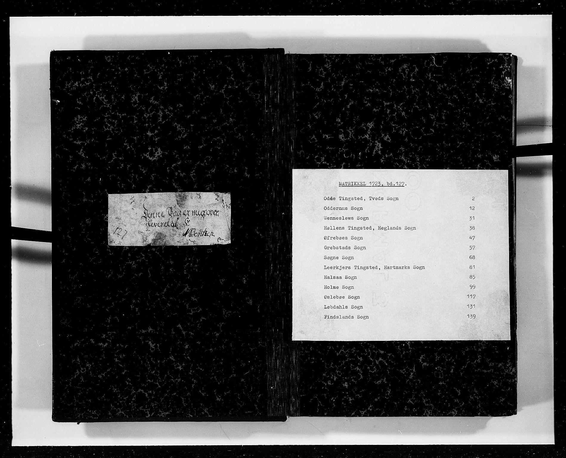 RA, Rentekammeret inntil 1814, Realistisk ordnet avdeling, N/Nb/Nbf/L0127: Mandal eksaminasjonsprotokoll, 1723, s. upaginert
