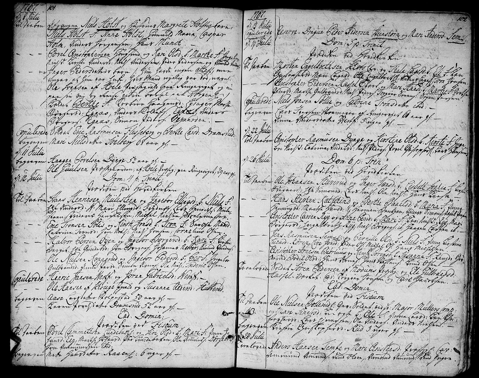 SAKO, Eiker kirkebøker, F/Fa/L0008: Ministerialbok nr. I 8, 1764-1788, s. 101-102