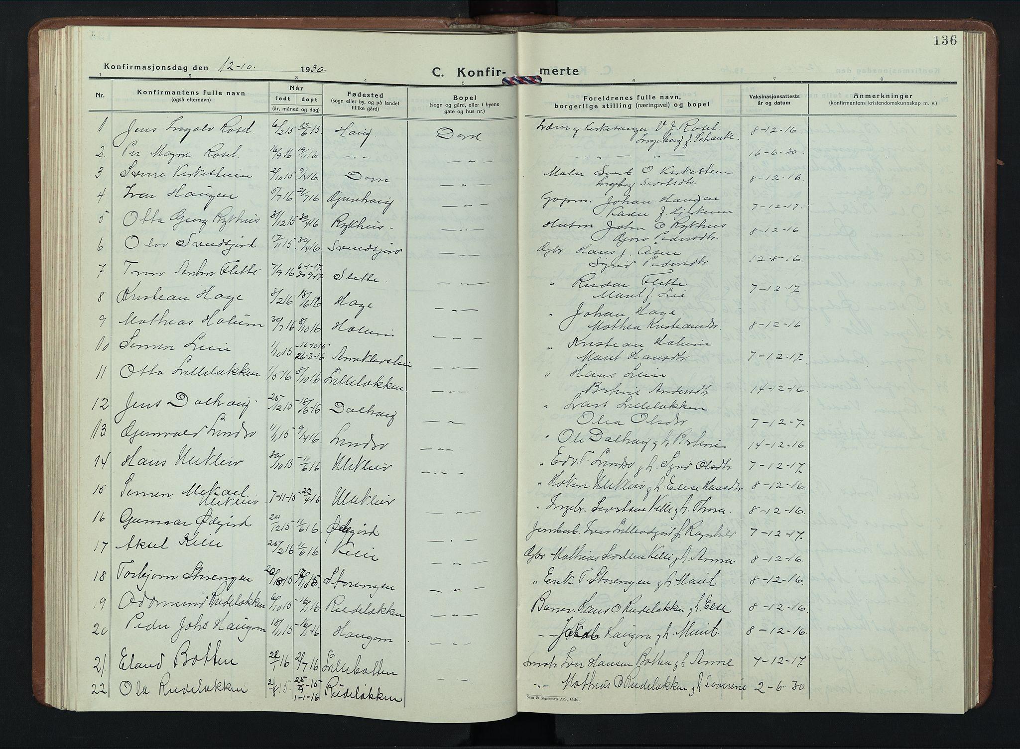 SAH, Dovre prestekontor, Klokkerbok nr. 4, 1926-1949, s. 136