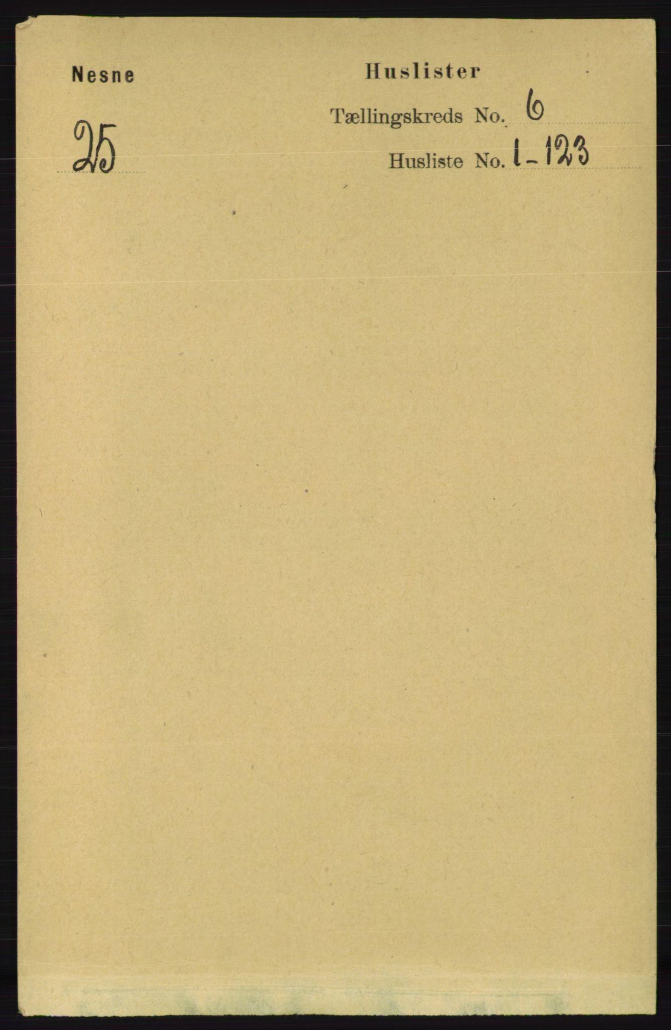 RA, Folketelling 1891 for 1828 Nesna herred, 1891, s. 3218