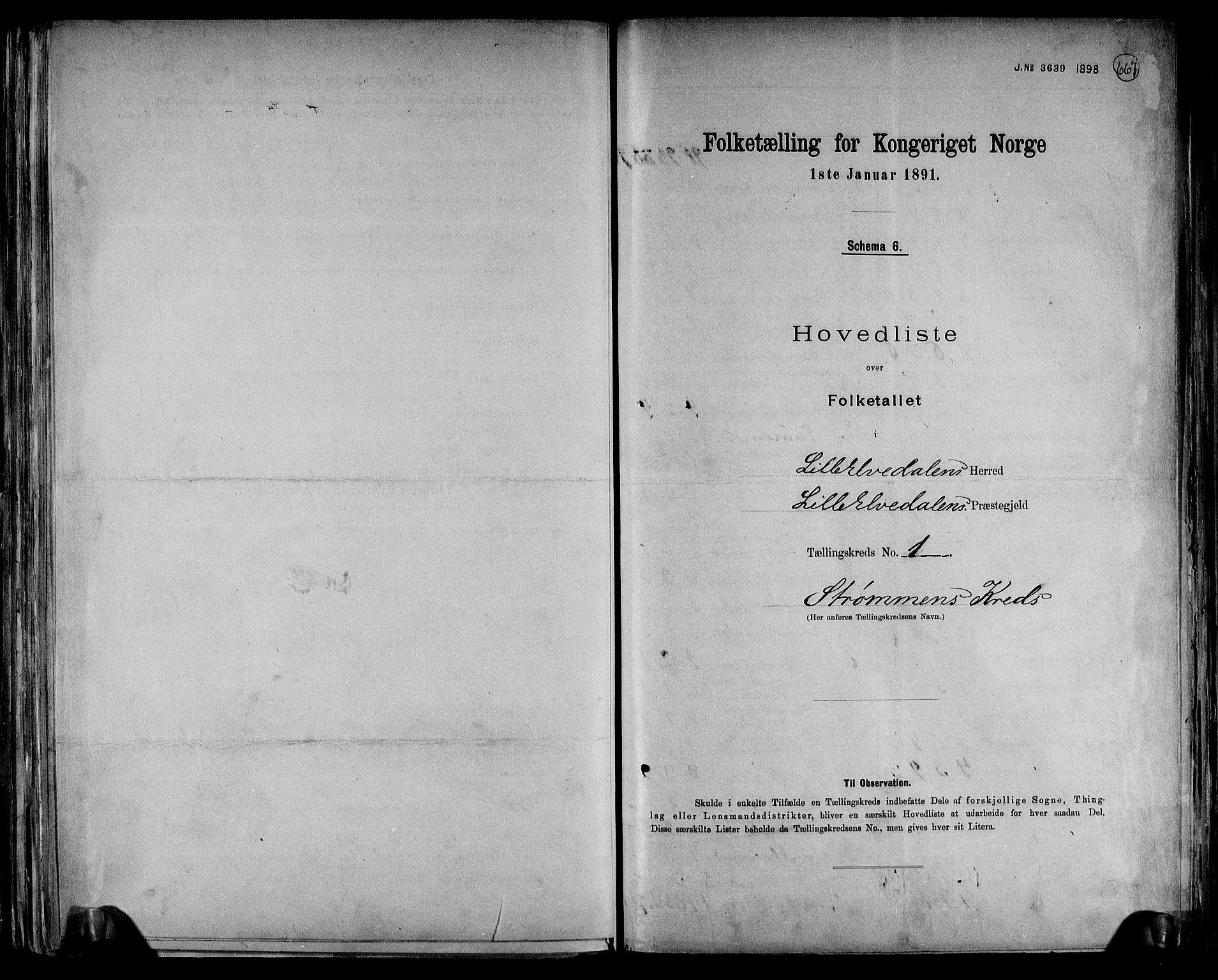 RA, Folketelling 1891 for 0438 Lille Elvedalen herred, 1891, s. 4