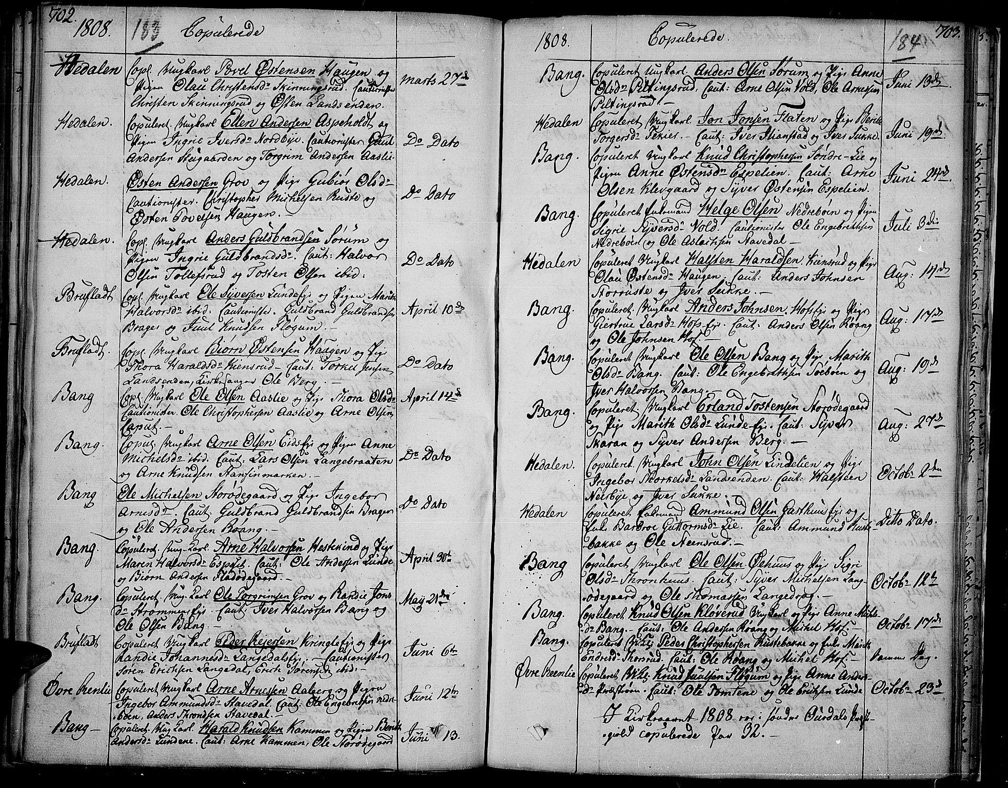 SAH, Sør-Aurdal prestekontor, Ministerialbok nr. 1, 1807-1815, s. 183-184