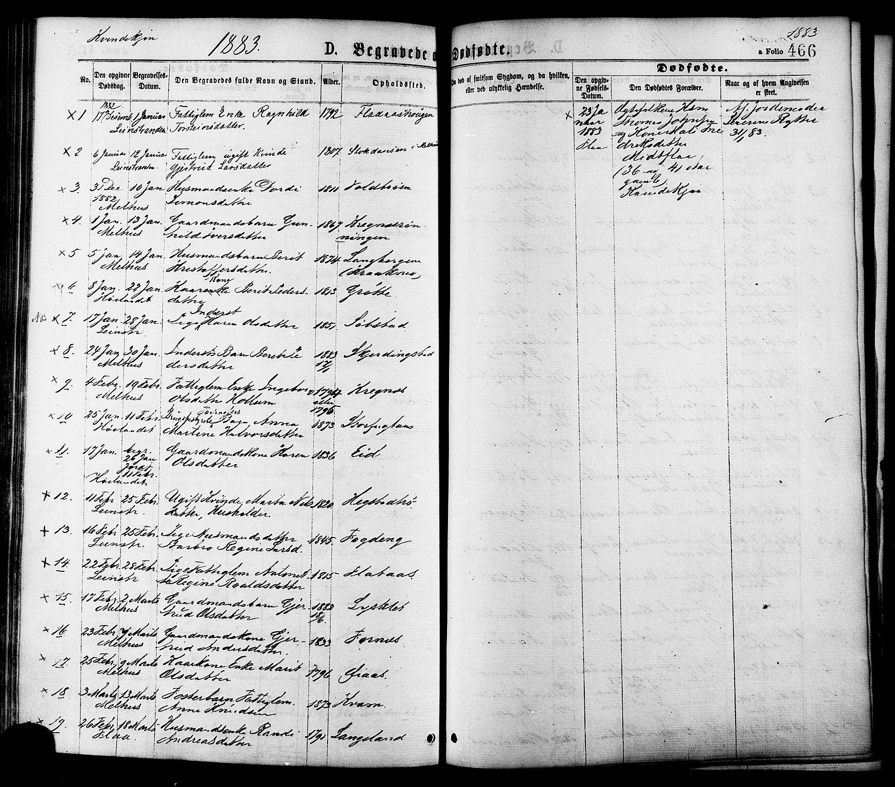 SAT, Ministerialprotokoller, klokkerbøker og fødselsregistre - Sør-Trøndelag, 691/L1079: Ministerialbok nr. 691A11, 1873-1886, s. 466