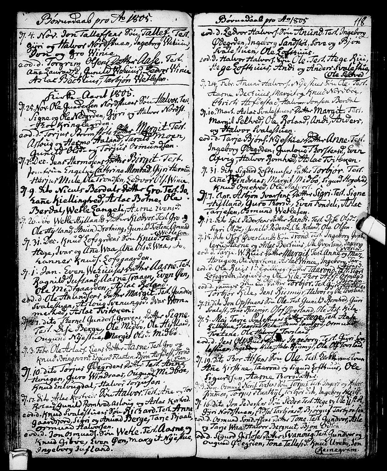 SAKO, Vinje kirkebøker, F/Fa/L0002: Ministerialbok nr. I 2, 1767-1814, s. 118