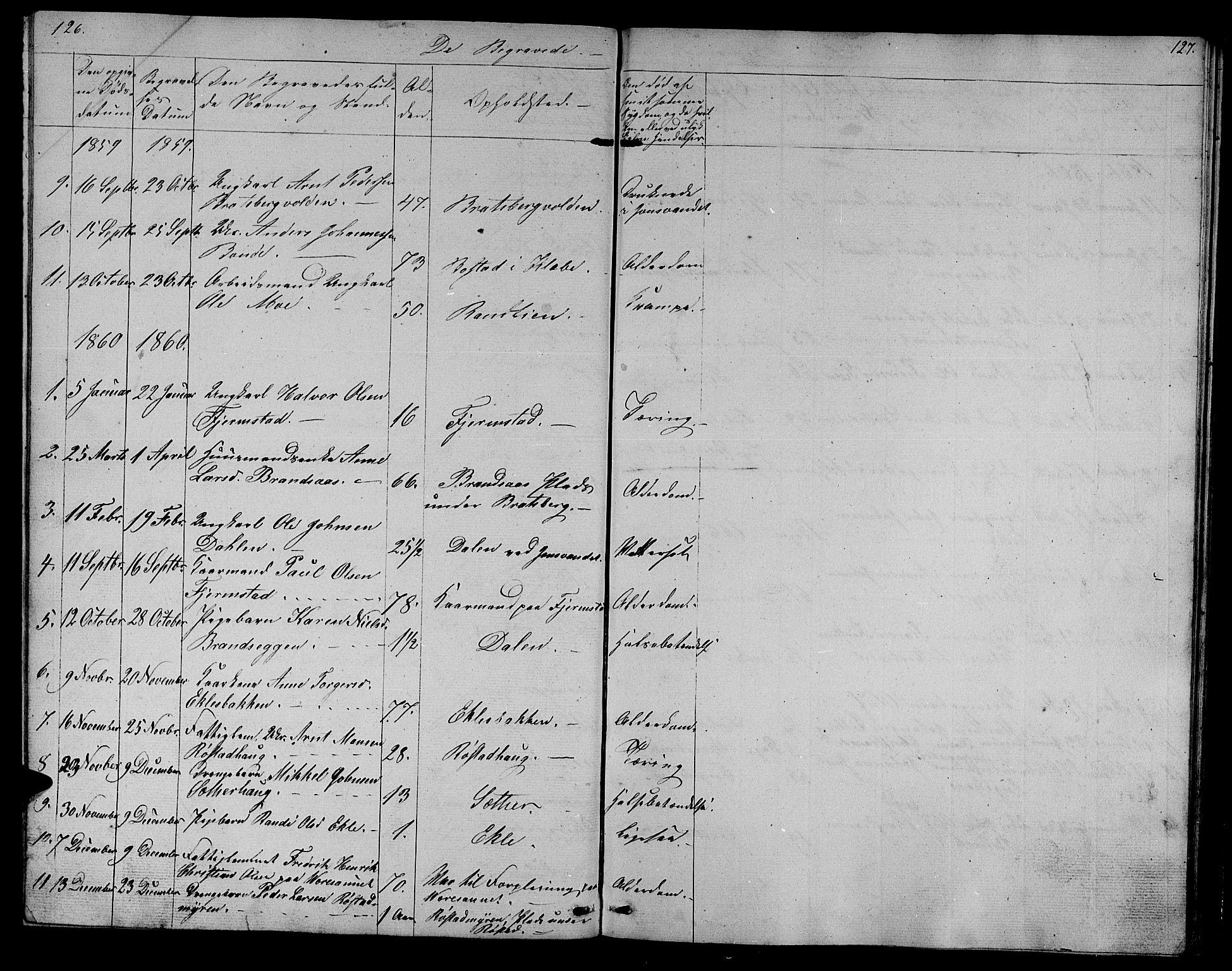 SAT, Ministerialprotokoller, klokkerbøker og fødselsregistre - Sør-Trøndelag, 608/L0339: Klokkerbok nr. 608C05, 1844-1863, s. 126-127