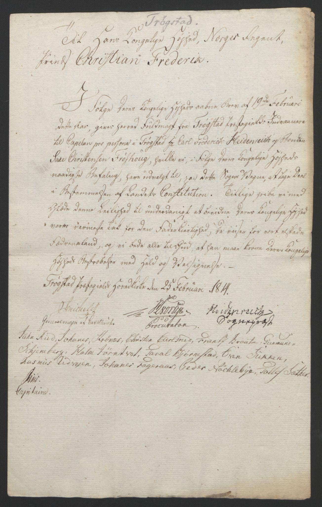 RA, Statsrådssekretariatet, D/Db/L0007: Fullmakter for Eidsvollsrepresentantene i 1814. , 1814, s. 168