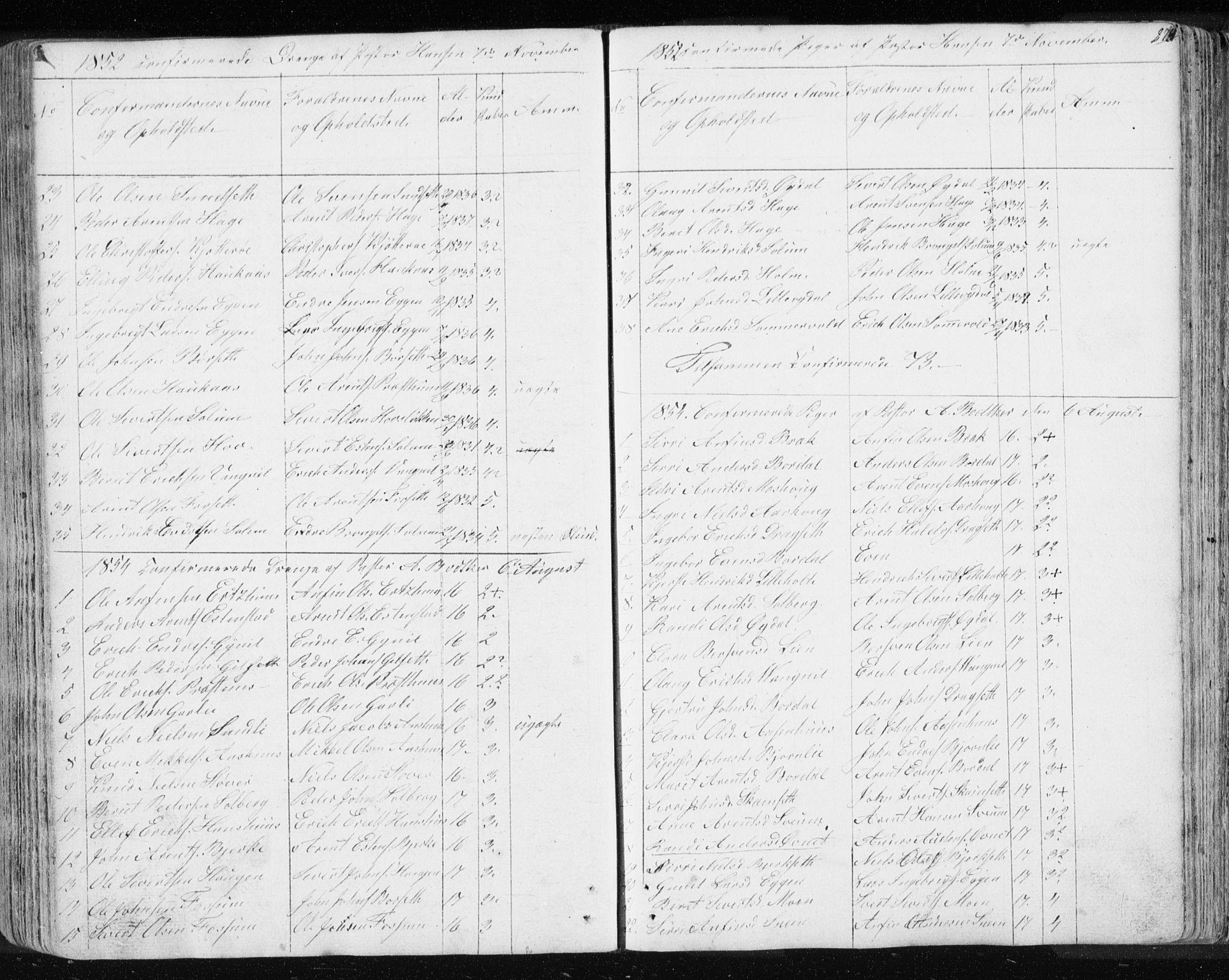 SAT, Ministerialprotokoller, klokkerbøker og fødselsregistre - Sør-Trøndelag, 689/L1043: Klokkerbok nr. 689C02, 1816-1892, s. 274