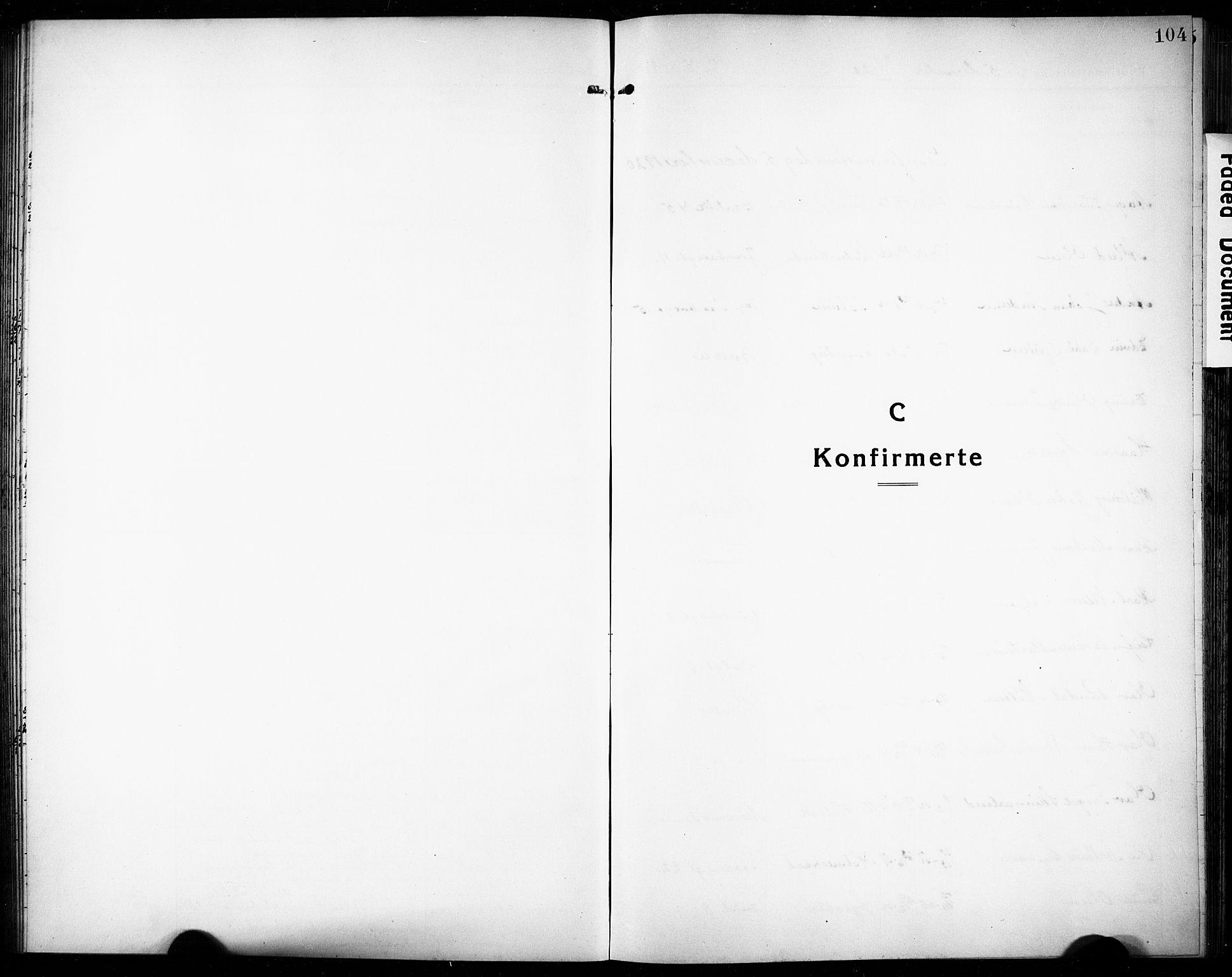 SAKO, Rjukan kirkebøker, G/Ga/L0003: Klokkerbok nr. 3, 1920-1928, s. 104