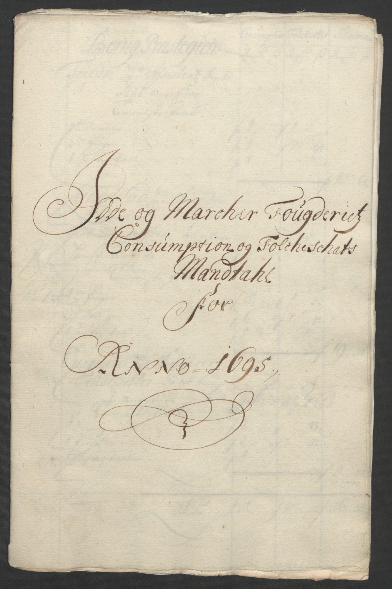 RA, Rentekammeret inntil 1814, Reviderte regnskaper, Fogderegnskap, R01/L0012: Fogderegnskap Idd og Marker, 1694-1695, s. 238