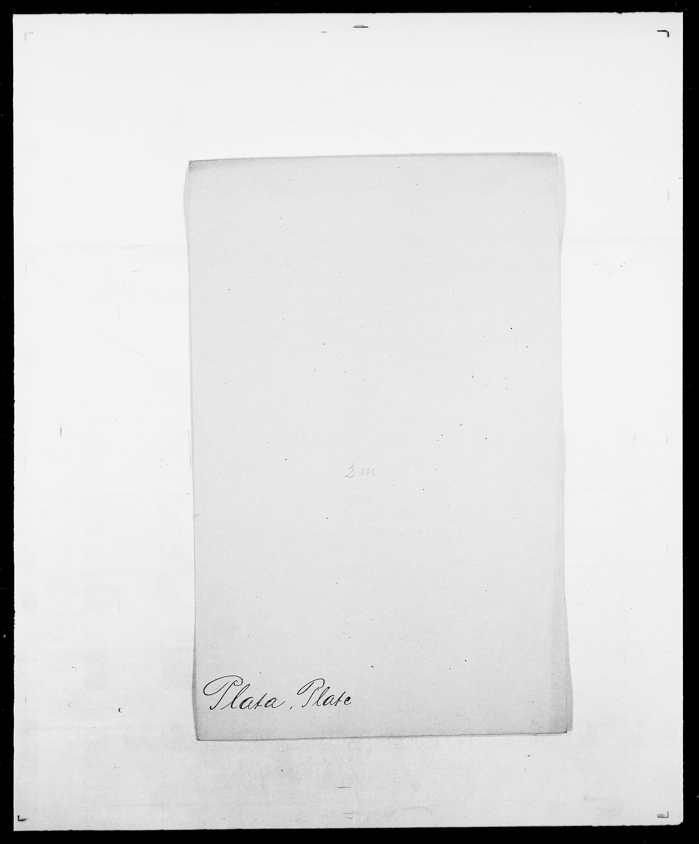 SAO, Delgobe, Charles Antoine - samling, D/Da/L0031: de Place - Raaum, s. 25