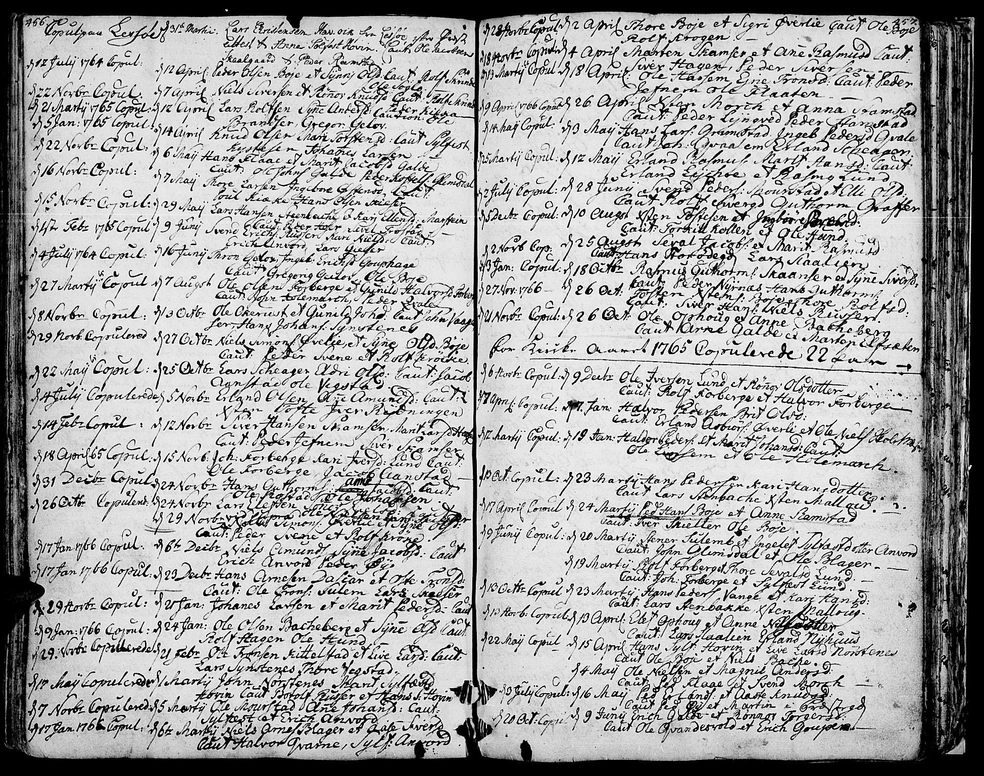 SAH, Lom prestekontor, K/L0002: Ministerialbok nr. 2, 1749-1801, s. 456-457