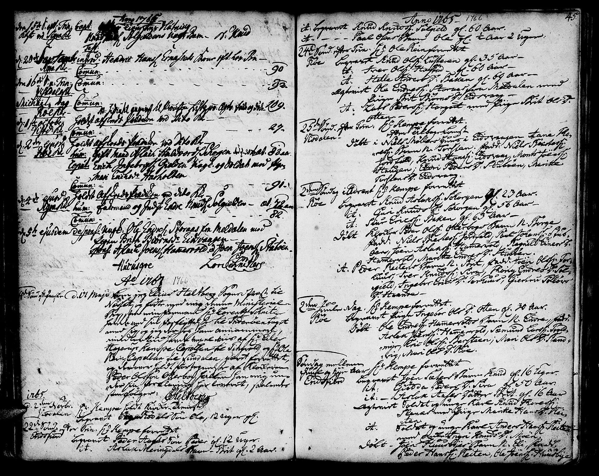 SAT, Ministerialprotokoller, klokkerbøker og fødselsregistre - Møre og Romsdal, 551/L0621: Ministerialbok nr. 551A01, 1757-1803, s. 45