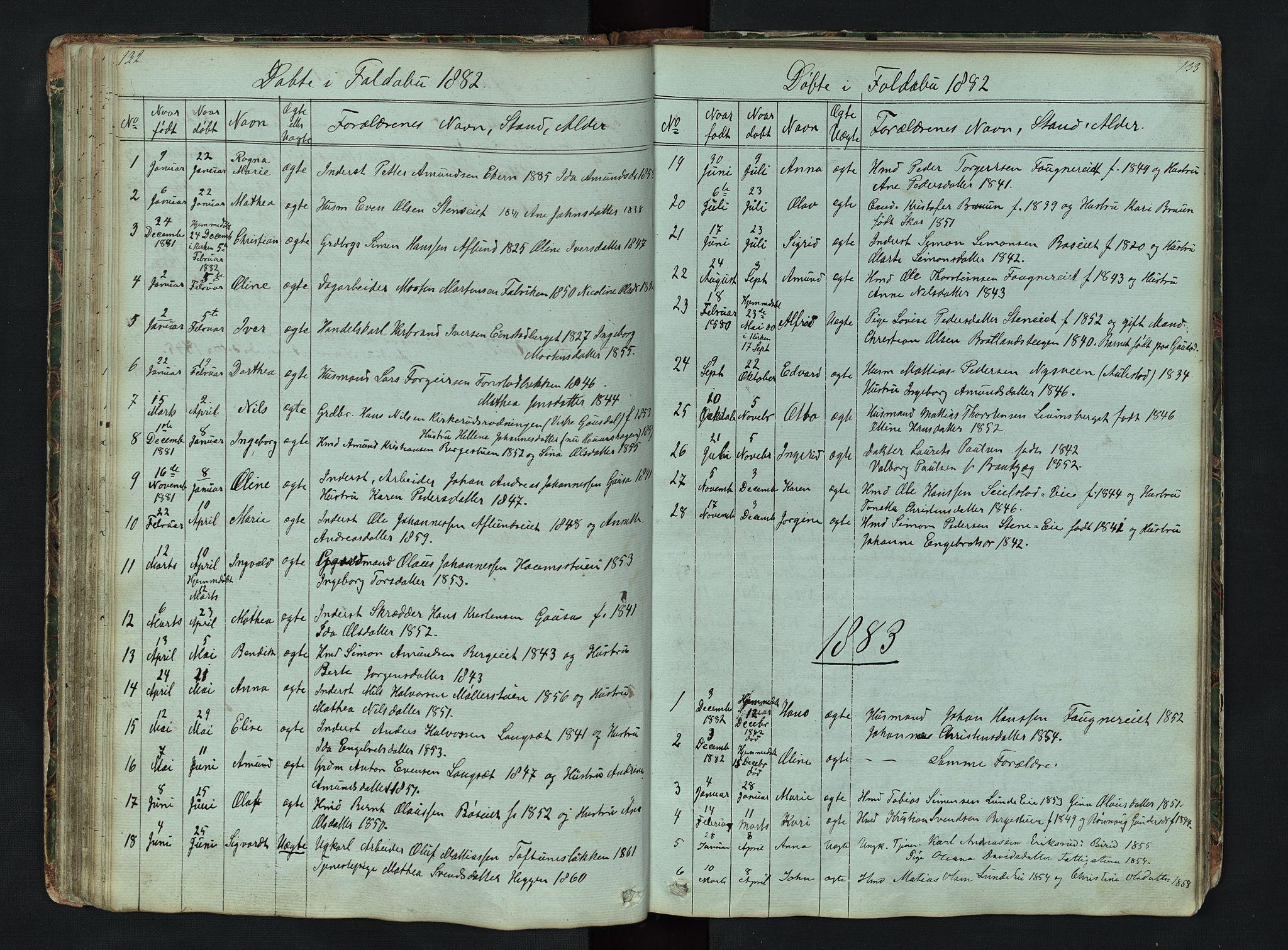 SAH, Gausdal prestekontor, Klokkerbok nr. 6, 1846-1893, s. 132-133