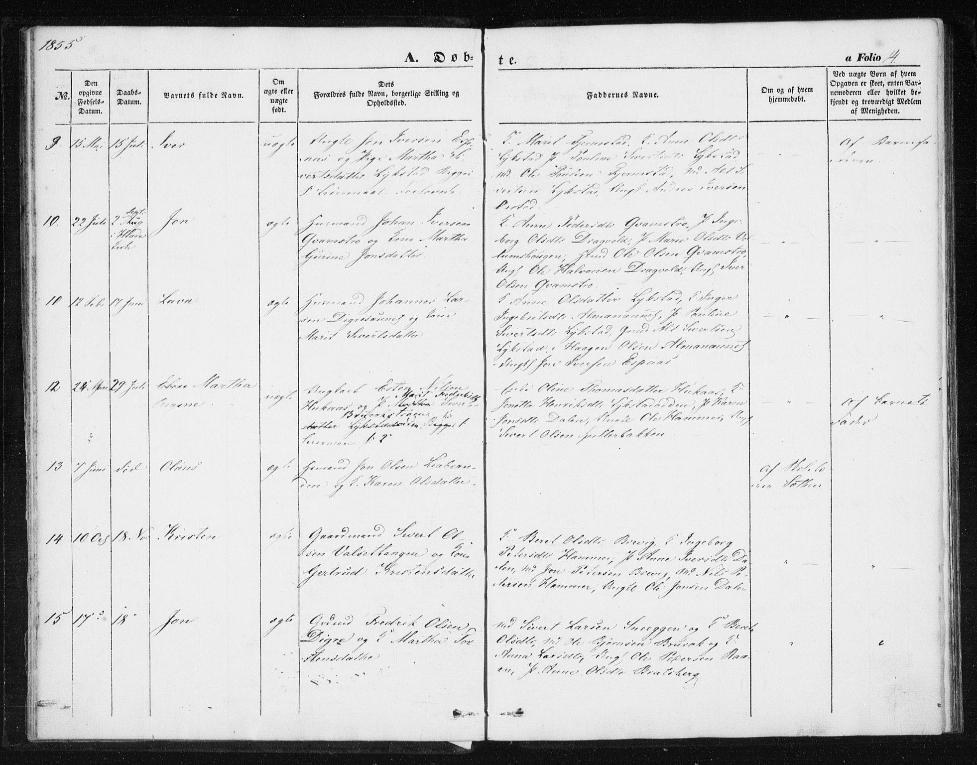 SAT, Ministerialprotokoller, klokkerbøker og fødselsregistre - Sør-Trøndelag, 608/L0332: Ministerialbok nr. 608A01, 1848-1861, s. 14
