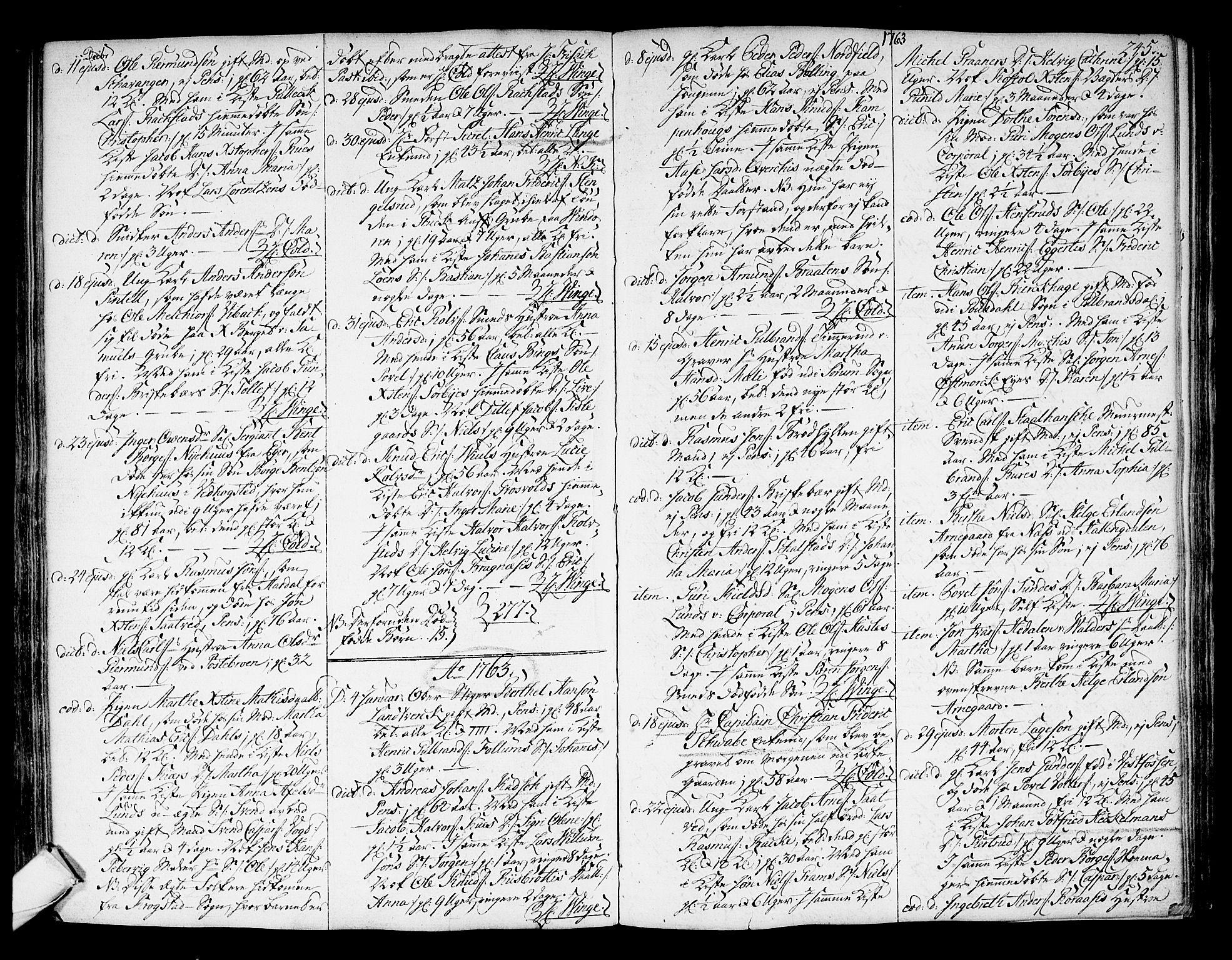 SAKO, Kongsberg kirkebøker, F/Fa/L0004: Ministerialbok nr. I 4, 1756-1768, s. 245