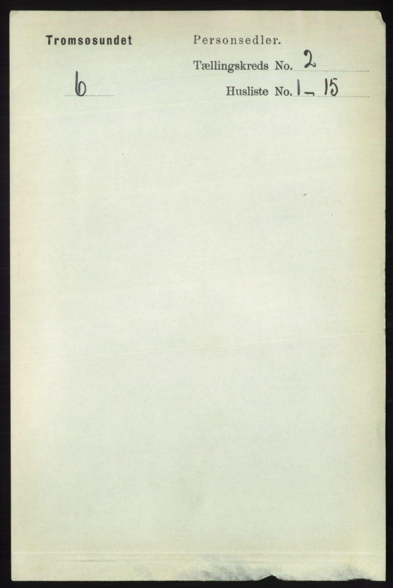 RA, Folketelling 1891 for 1934 Tromsøysund herred, 1891, s. 557