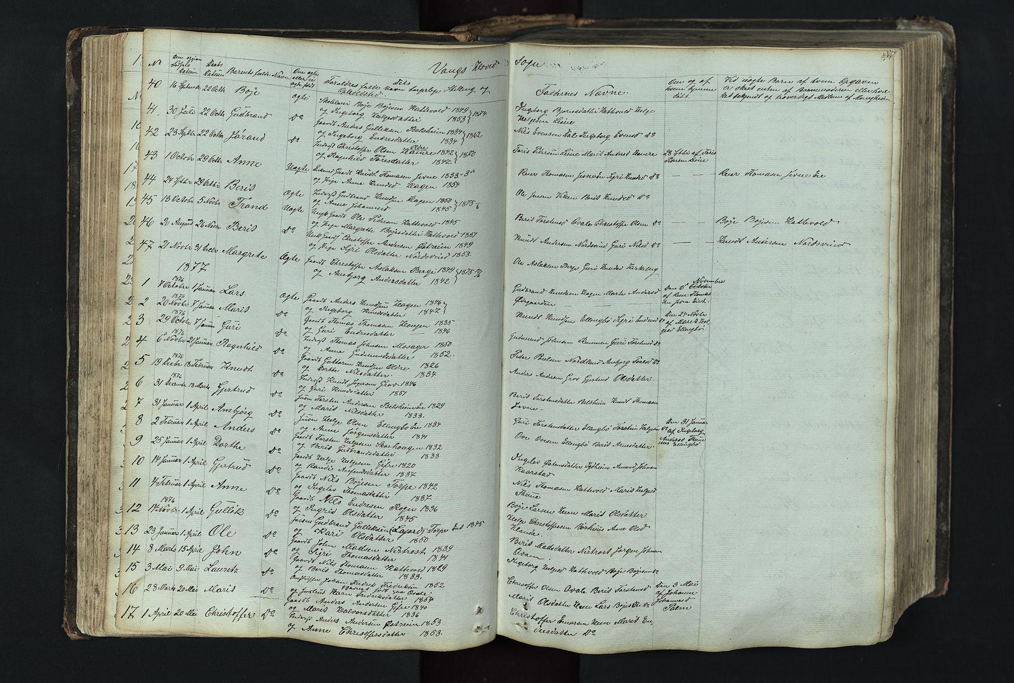 SAH, Vang prestekontor, Valdres, Klokkerbok nr. 4, 1835-1892, s. 71