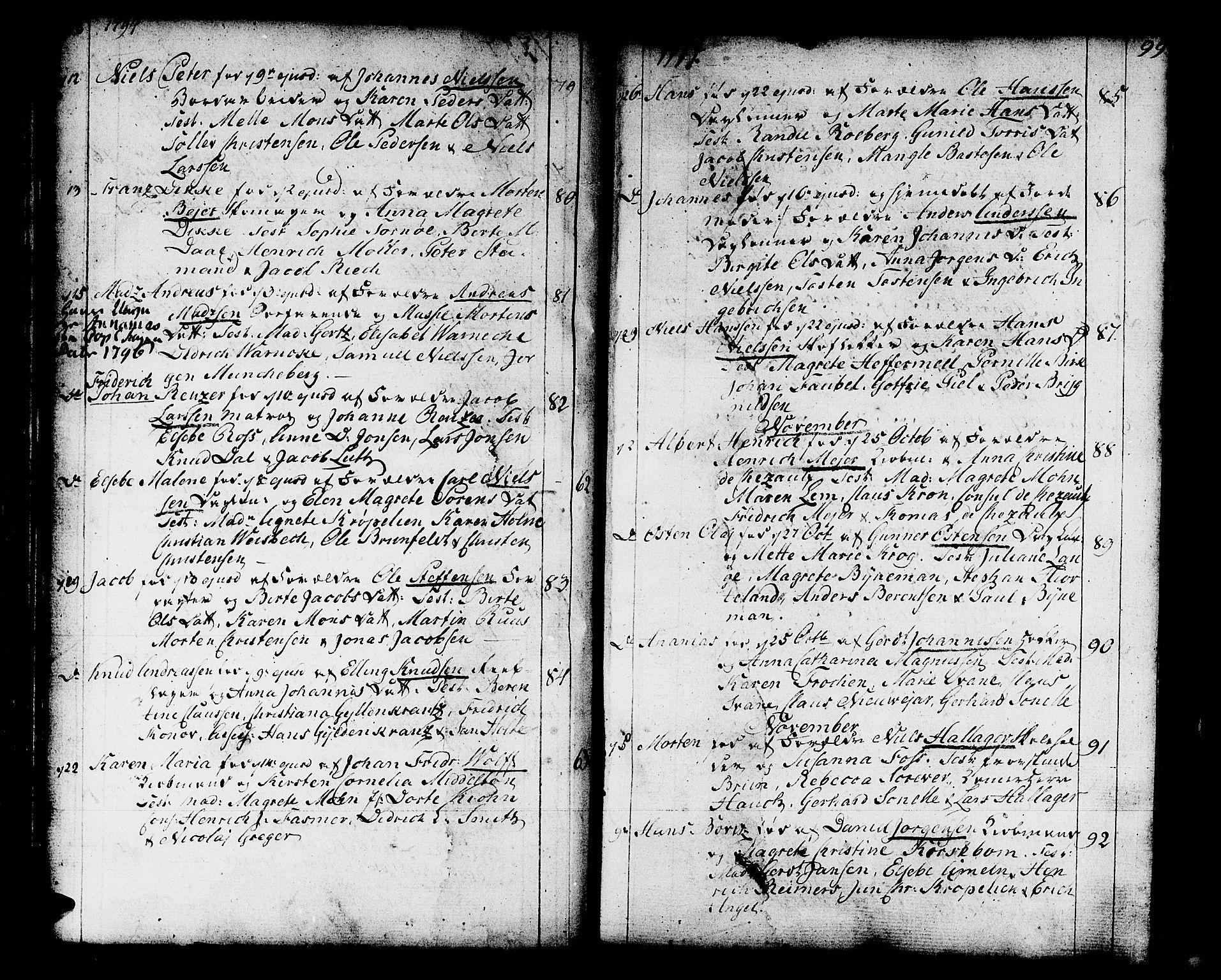 SAB, Domkirken Sokneprestembete, H/Haa/L0004: Ministerialbok nr. A 4, 1763-1820, s. 98-99