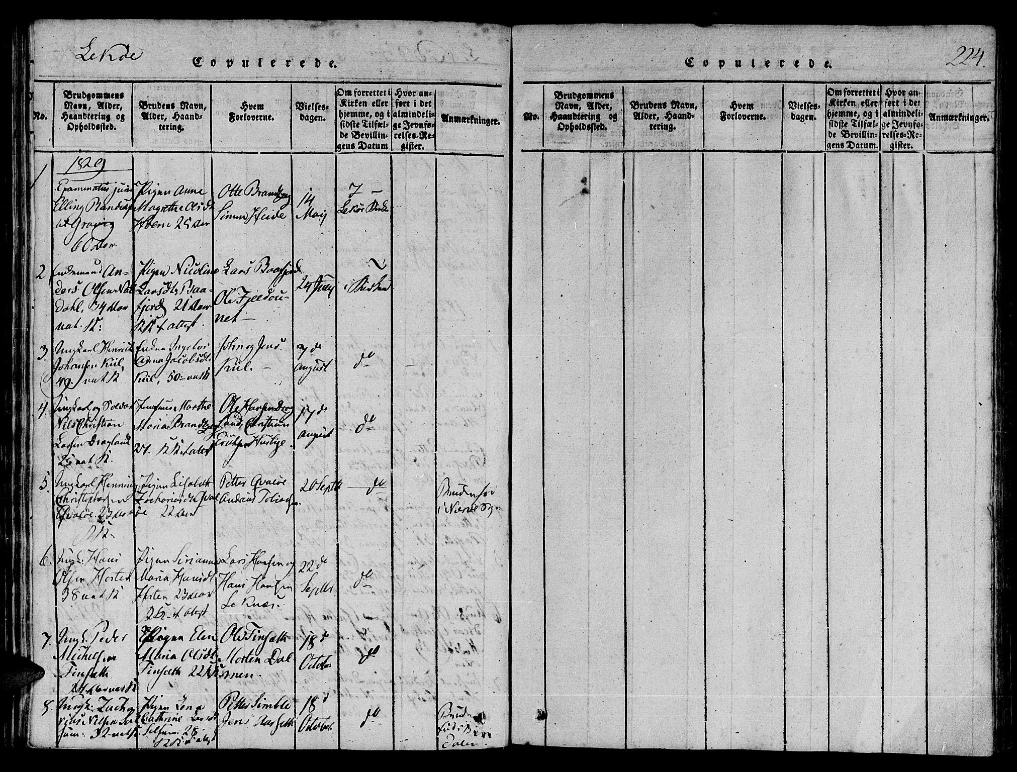 SAT, Ministerialprotokoller, klokkerbøker og fødselsregistre - Nord-Trøndelag, 780/L0636: Ministerialbok nr. 780A03 /2, 1815-1829, s. 220