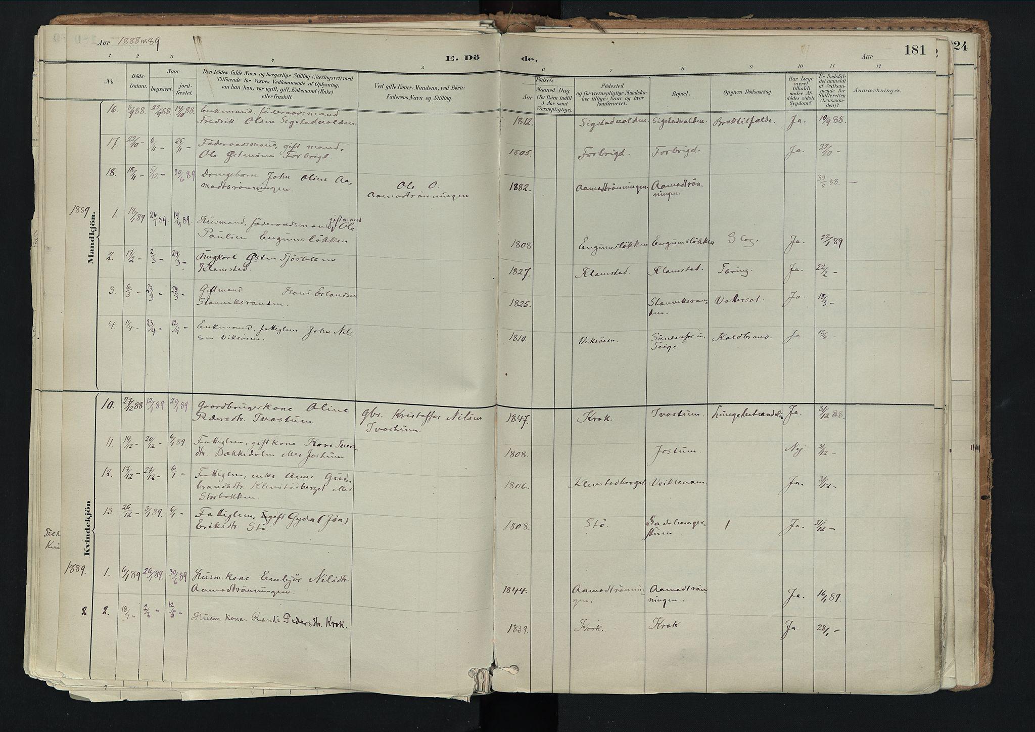 SAH, Nord-Fron prestekontor, Ministerialbok nr. 3, 1884-1914, s. 181