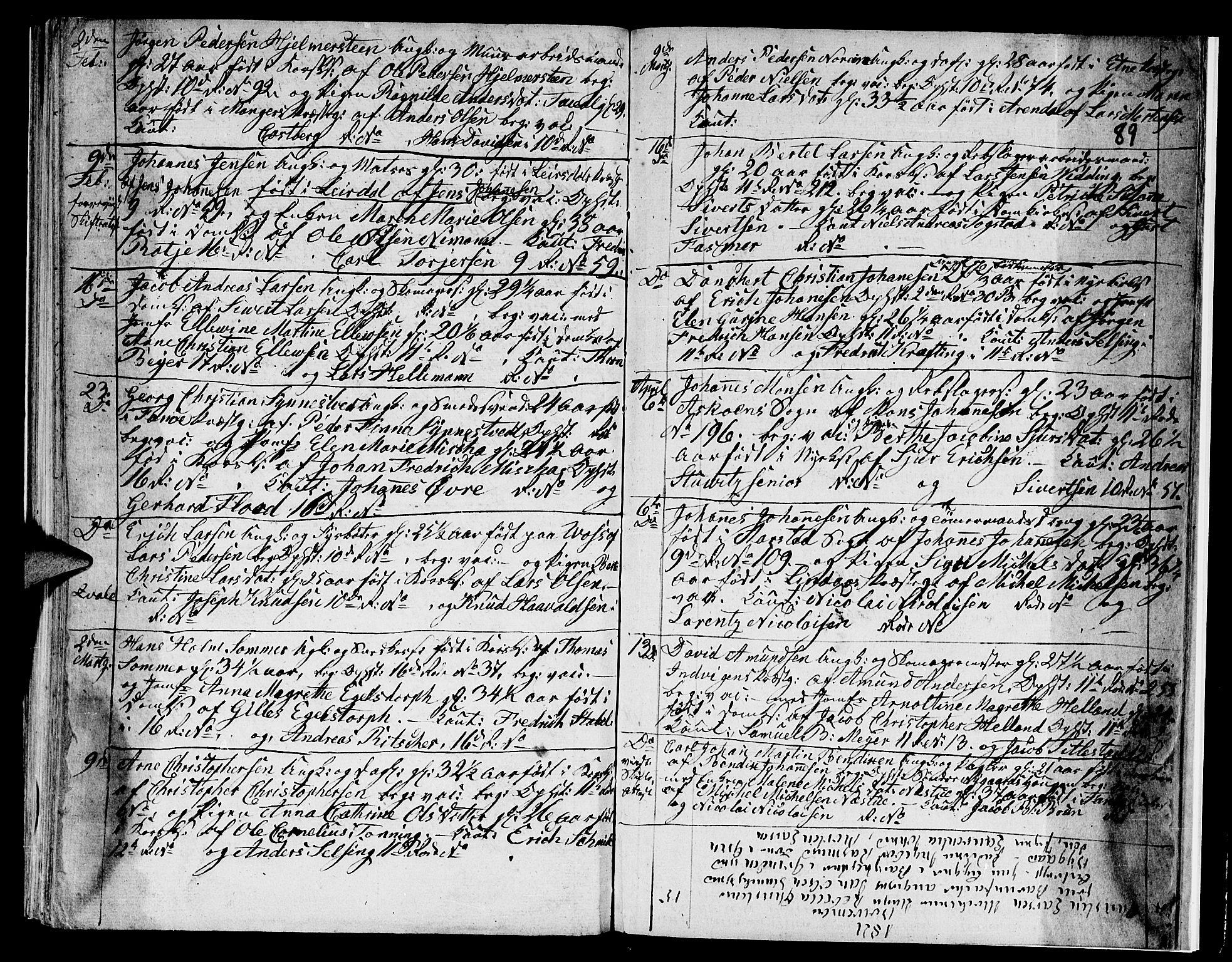 SAB, Domkirken sokneprestembete, H/Hab/L0003: Klokkerbok nr. A 3, 1820-1853