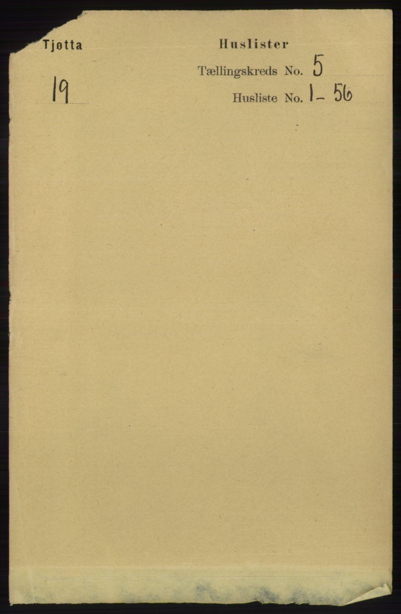 RA, Folketelling 1891 for 1817 Tjøtta herred, 1891, s. 2320