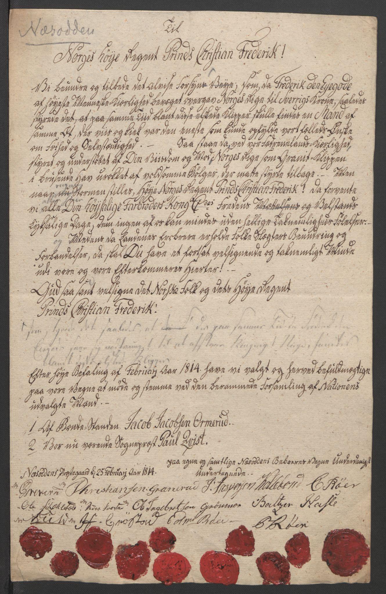 RA, Statsrådssekretariatet, D/Db/L0007: Fullmakter for Eidsvollsrepresentantene i 1814. , 1814, s. 199