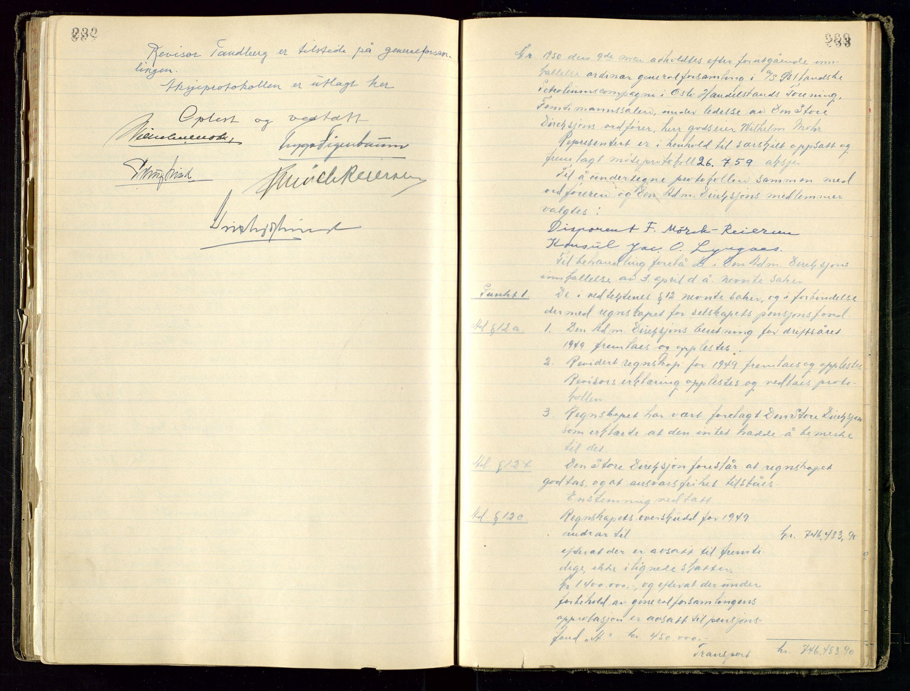 SAST, PA 1534 - Østlandske Petroleumscompagni A/S, A/Aa/L0001: Generalforsamlinger og direksjonsprotokoller., 1892-1960, s. 232-233