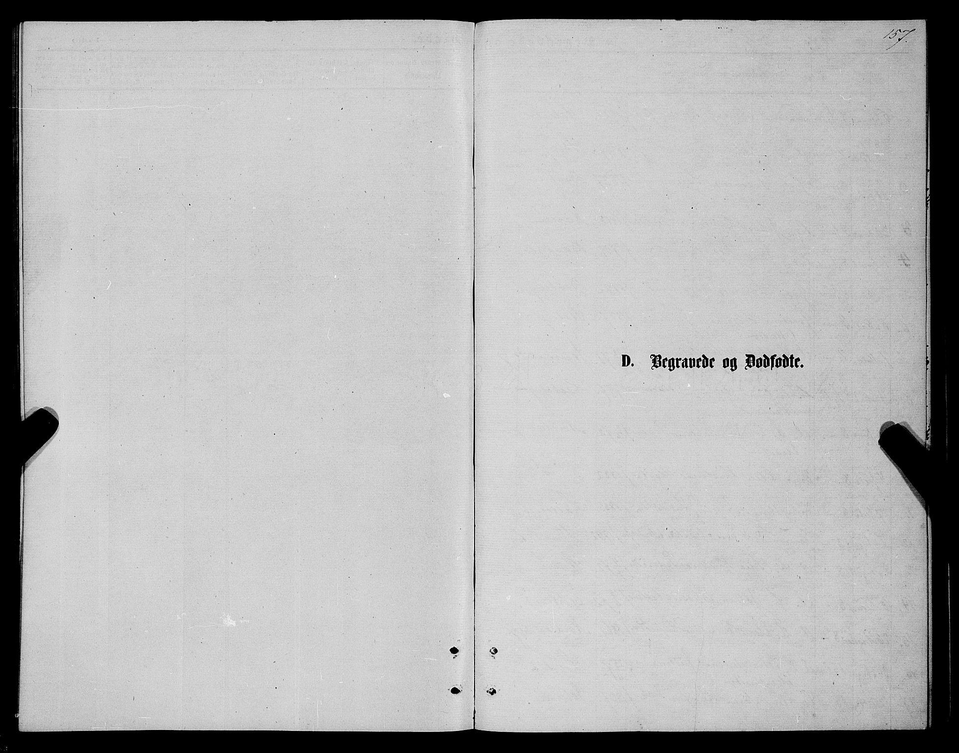 SATØ, Karlsøy sokneprestembete, H/Ha/Haa/L0005kirke: Ministerialbok nr. 5, 1872-1878, s. 157